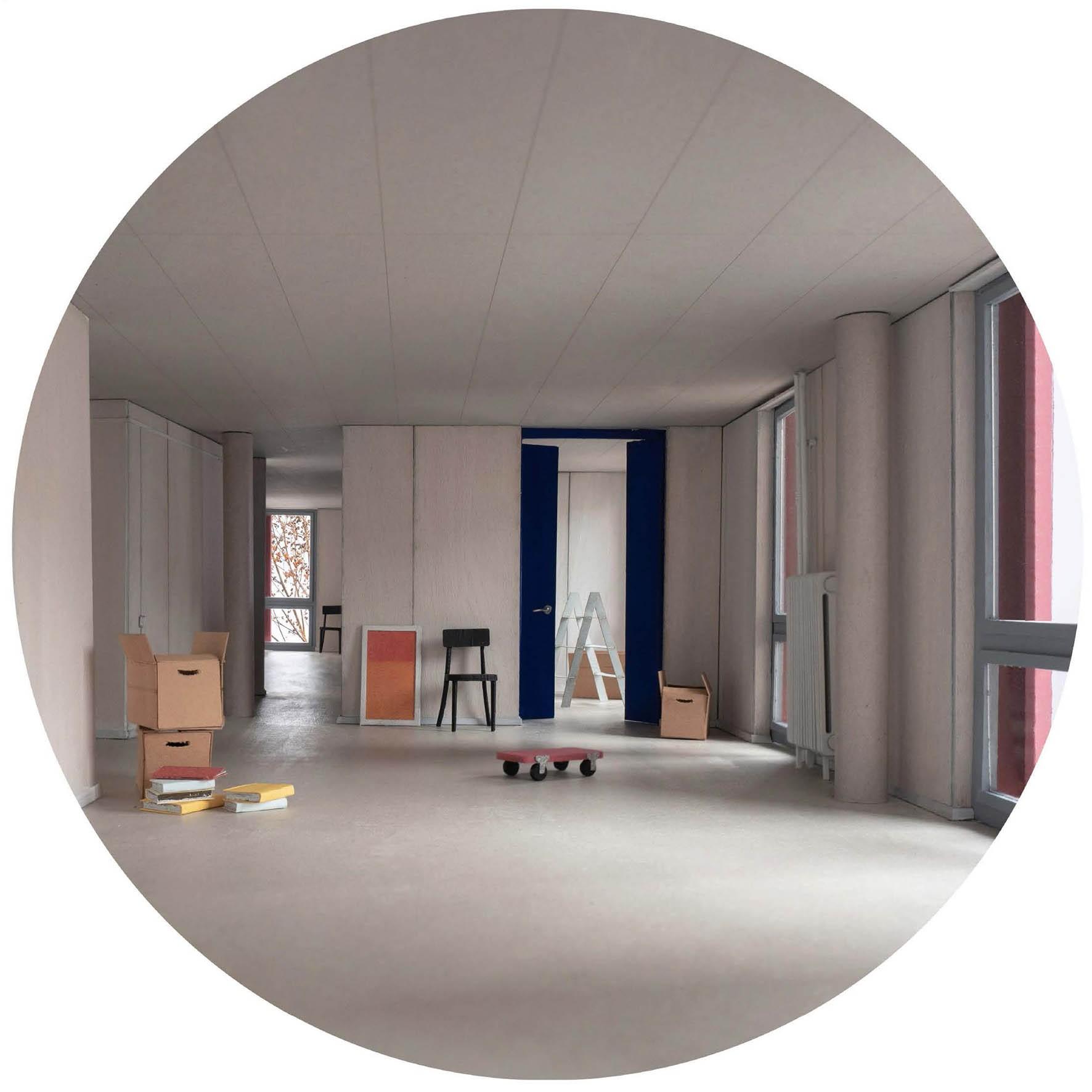 Visualisierung Wohnsiedlung Rotbuch VOLIÈRE Wohnbereich