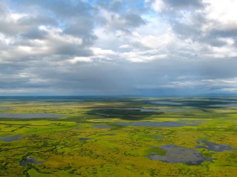 Das Yukon-Delta aus der Luft