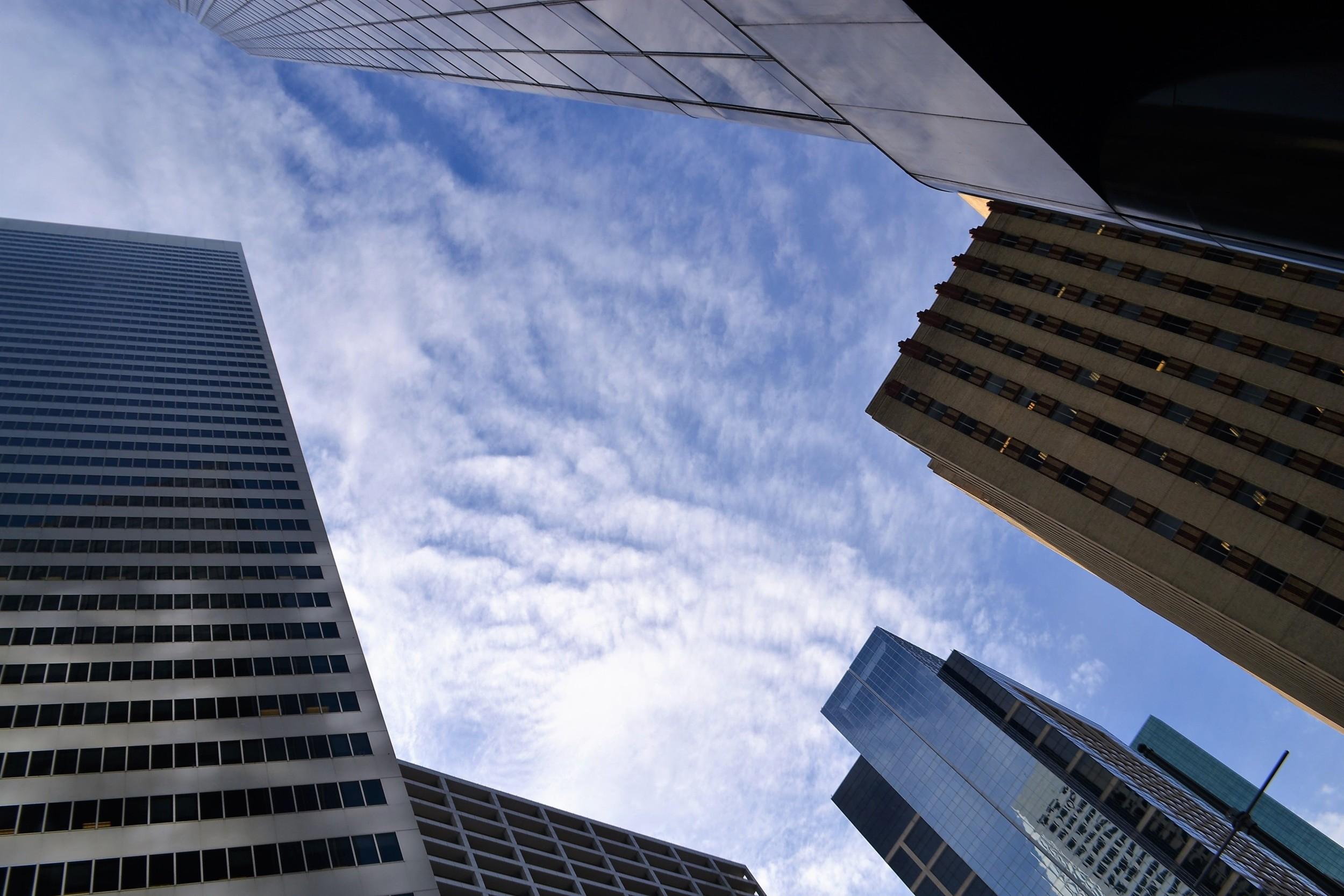Hochhäuser Verdichtung Tageslicht