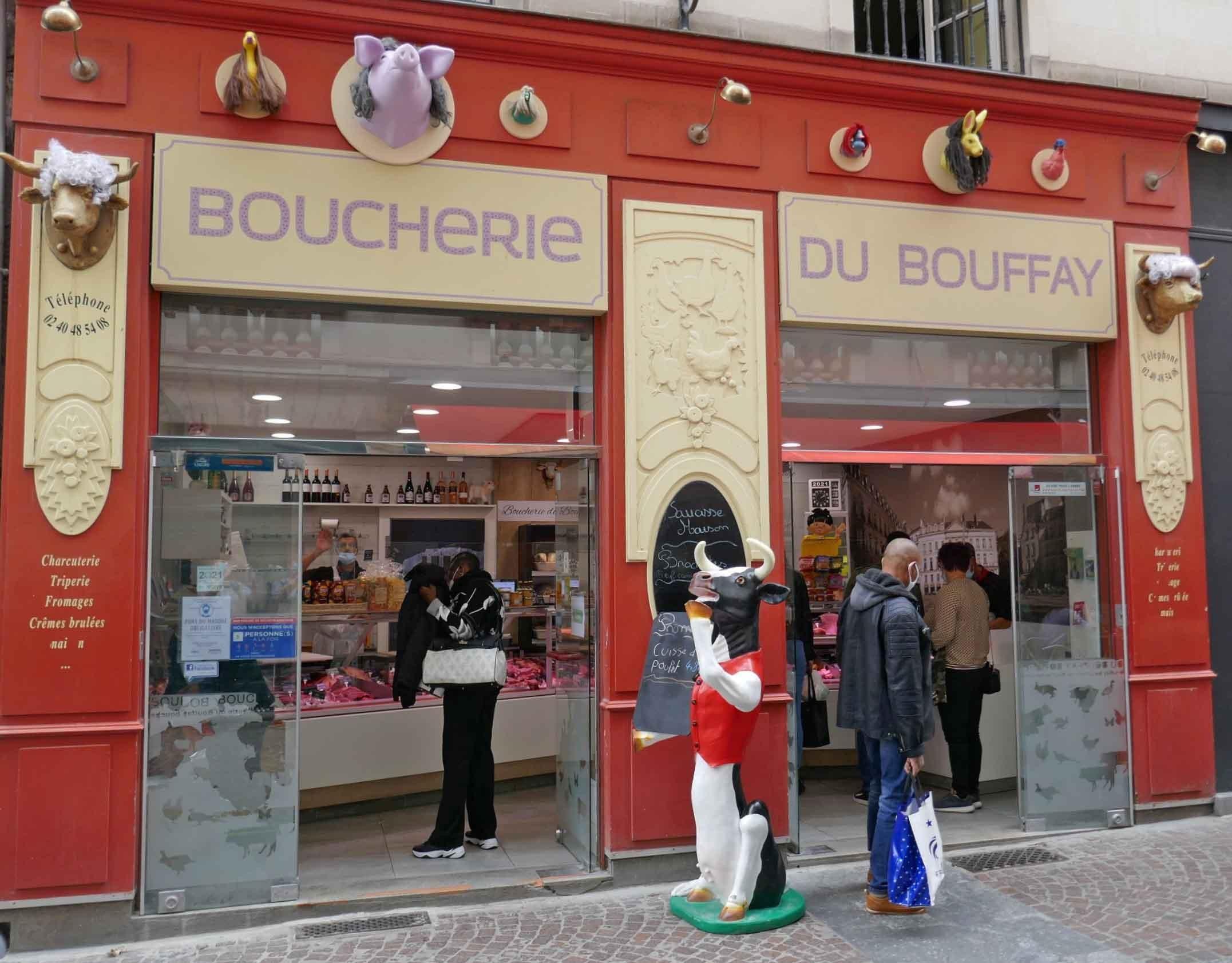 Ladenverkleidung bei Boucherie du Buffay in Nantes