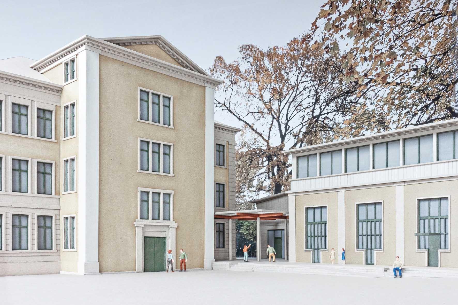 Visualisierung Erweiterung Schulanlage Mühlebach in Zürich