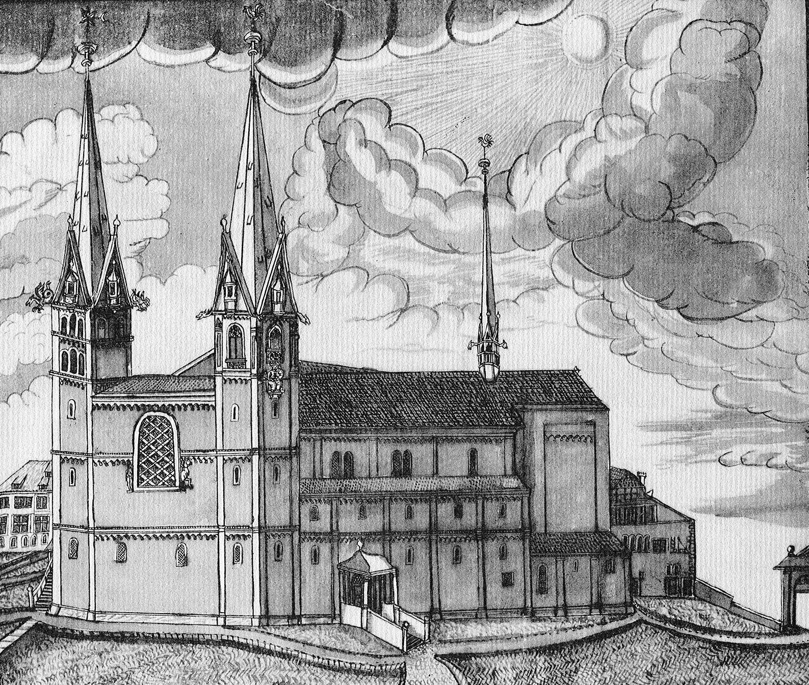 Grossmünster um das Jahr 1700