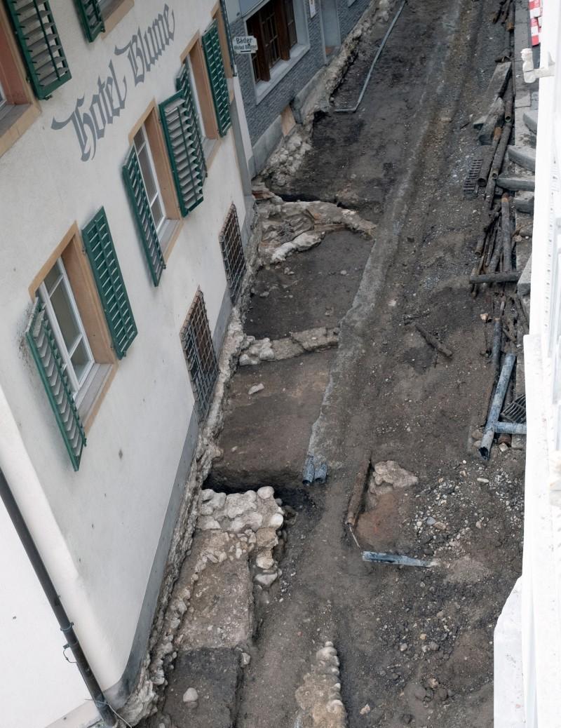 Erneuerung der Werkleitungen bei Hörnligasse in Baden