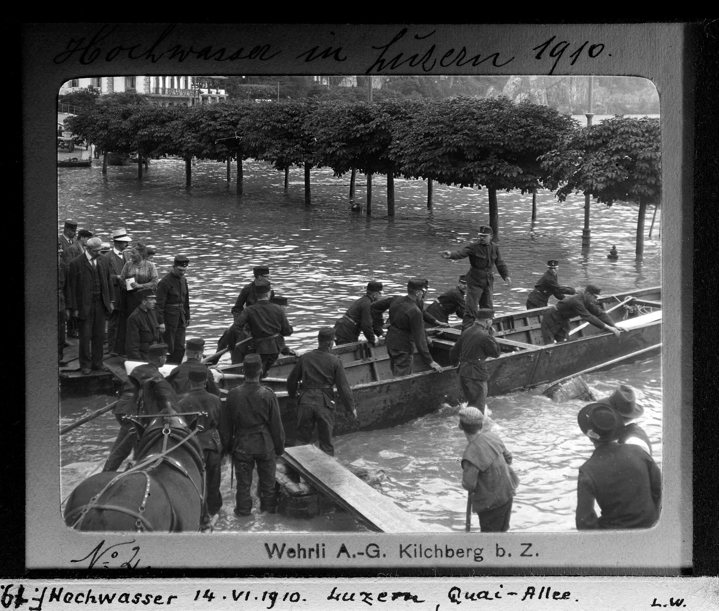 Hochwassers im Juni 1919, Luzern