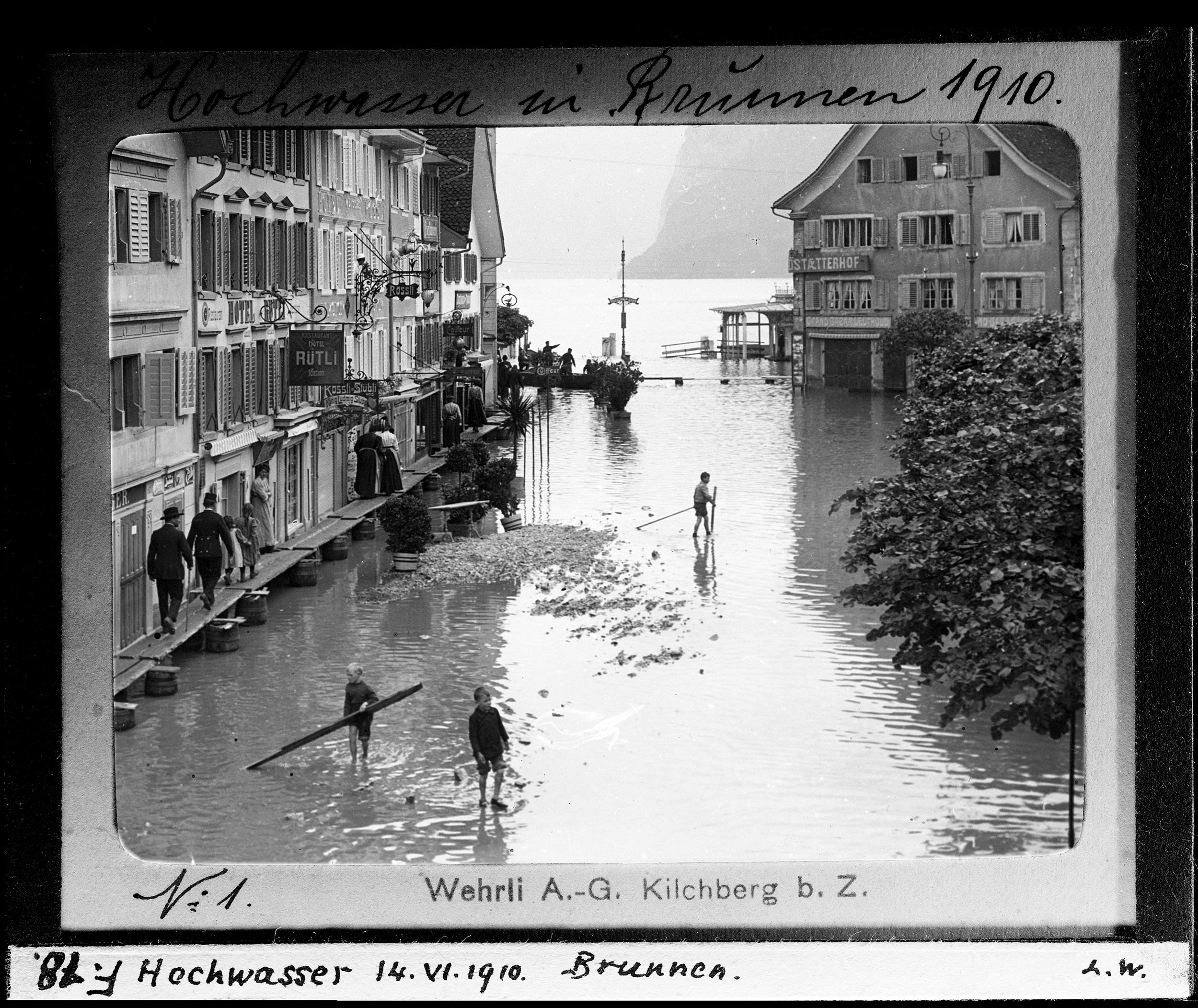 Hochwasser im Juni 1910, Brunnen