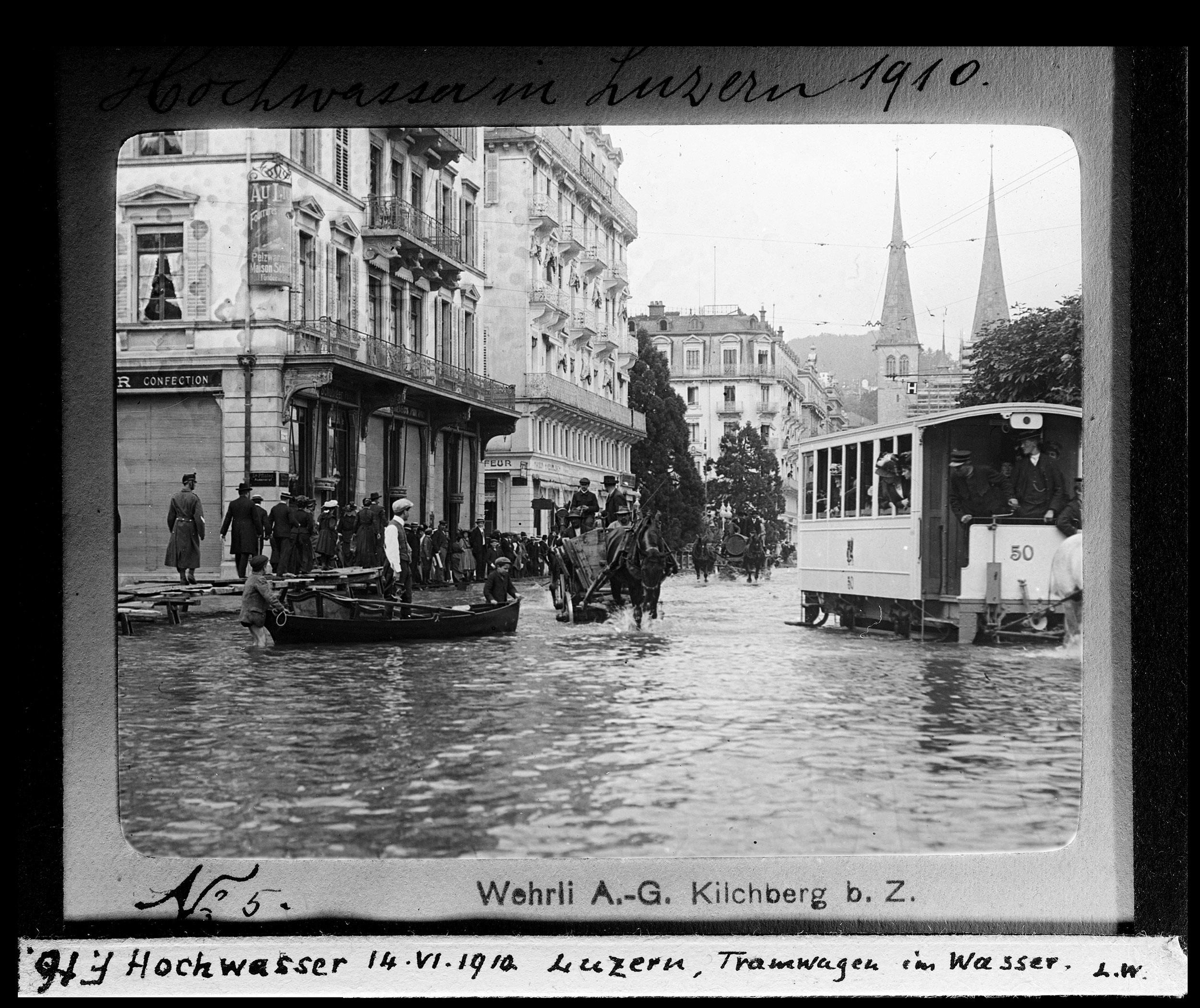 Hochwasser von 1910, Luzern