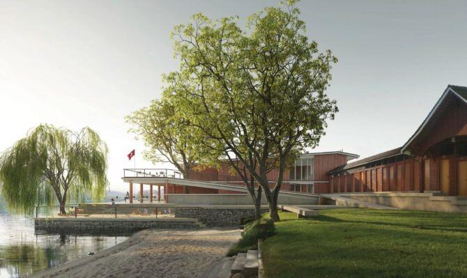 Visualisierung Ersatzneubau Lido-Hallenbad in Weggis