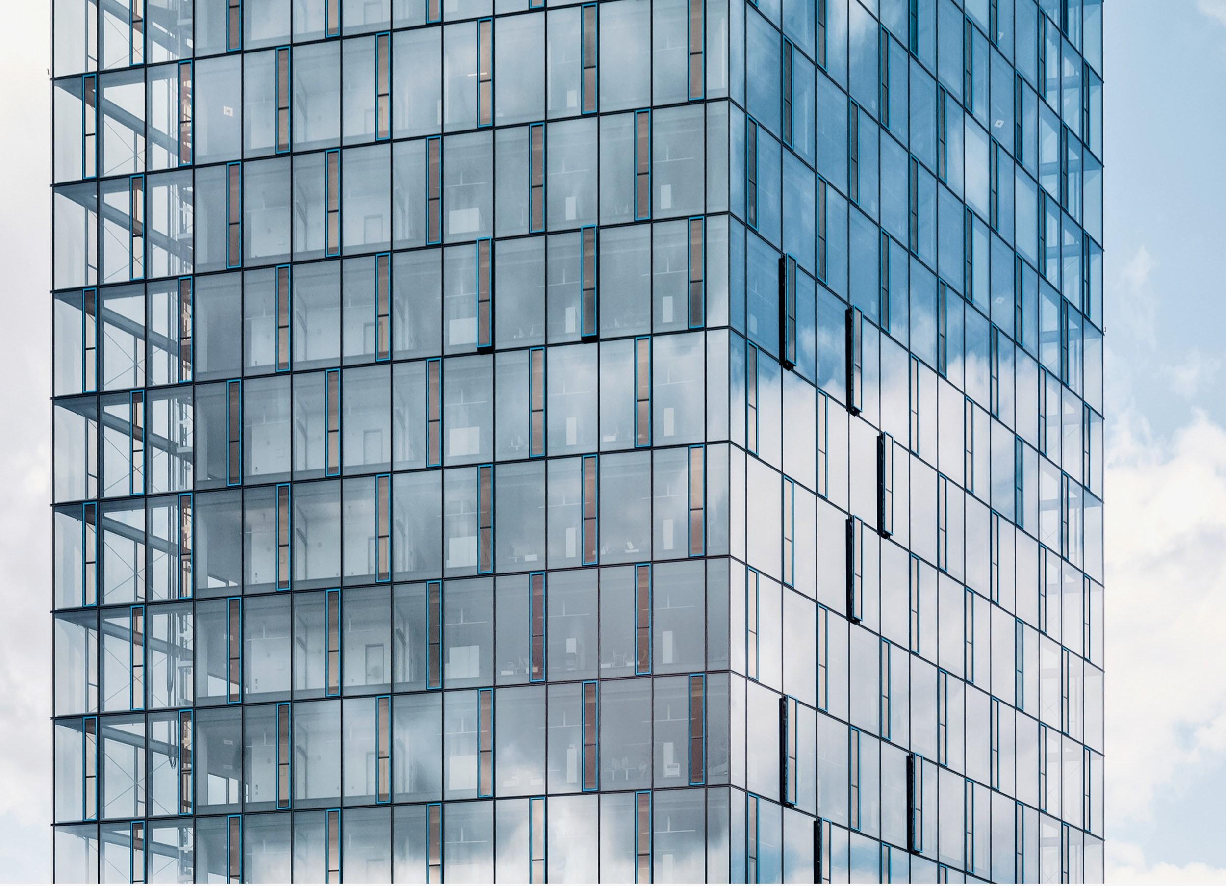 Glasfassade Festo AG Klimatisierung