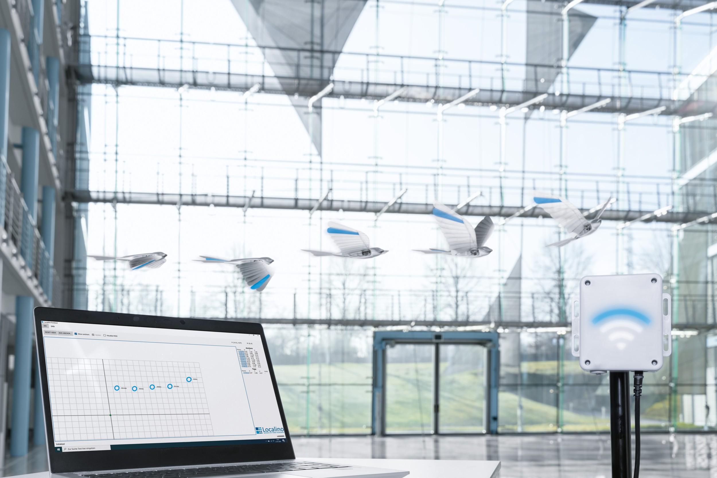 «Bionic Swift» Festo AG 3D-Modell Fabrikhalle
