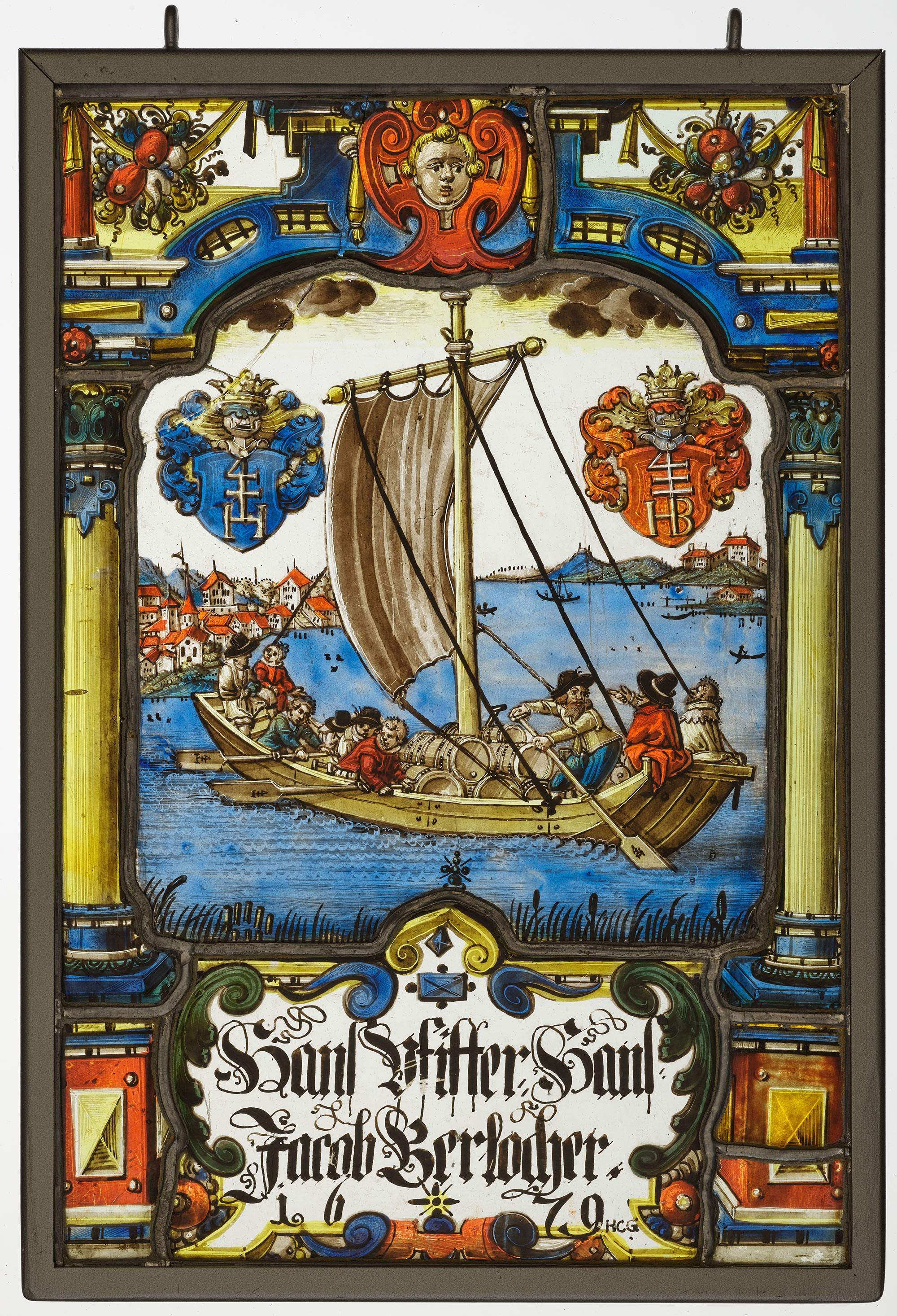 Wappenscheibe um 1679