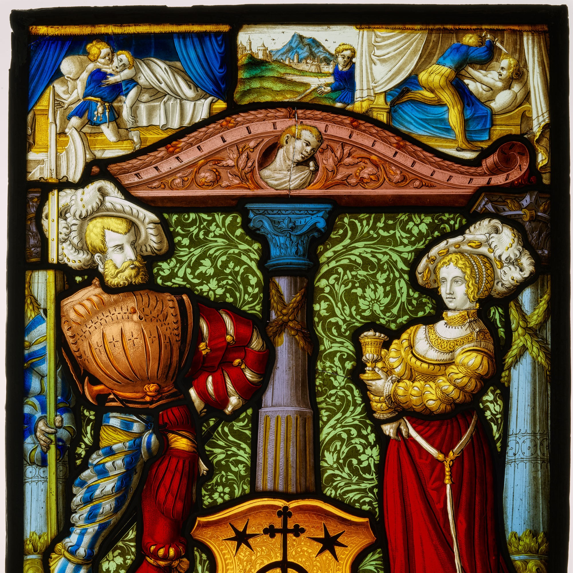 Wappenscheibe um 1554