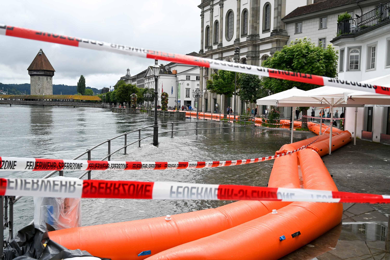 Vorbereitungen Stadt Luzern gegen Hochwasser