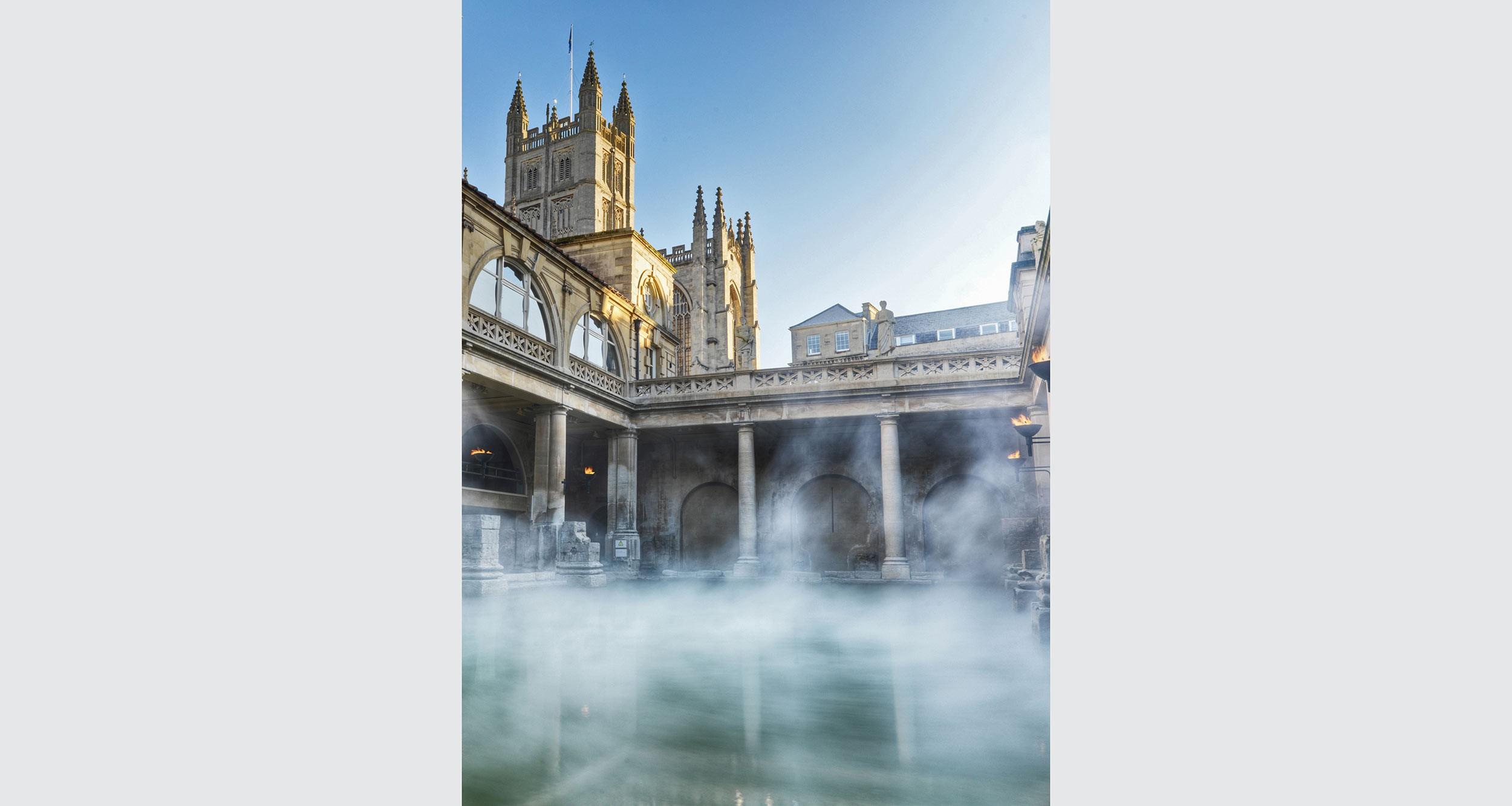 Das alte, römische Bad in Bath.