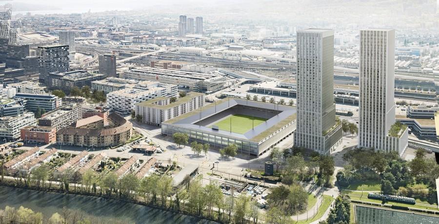 Visualisierung Projekt Ensemble Hardturmstadion Zürich