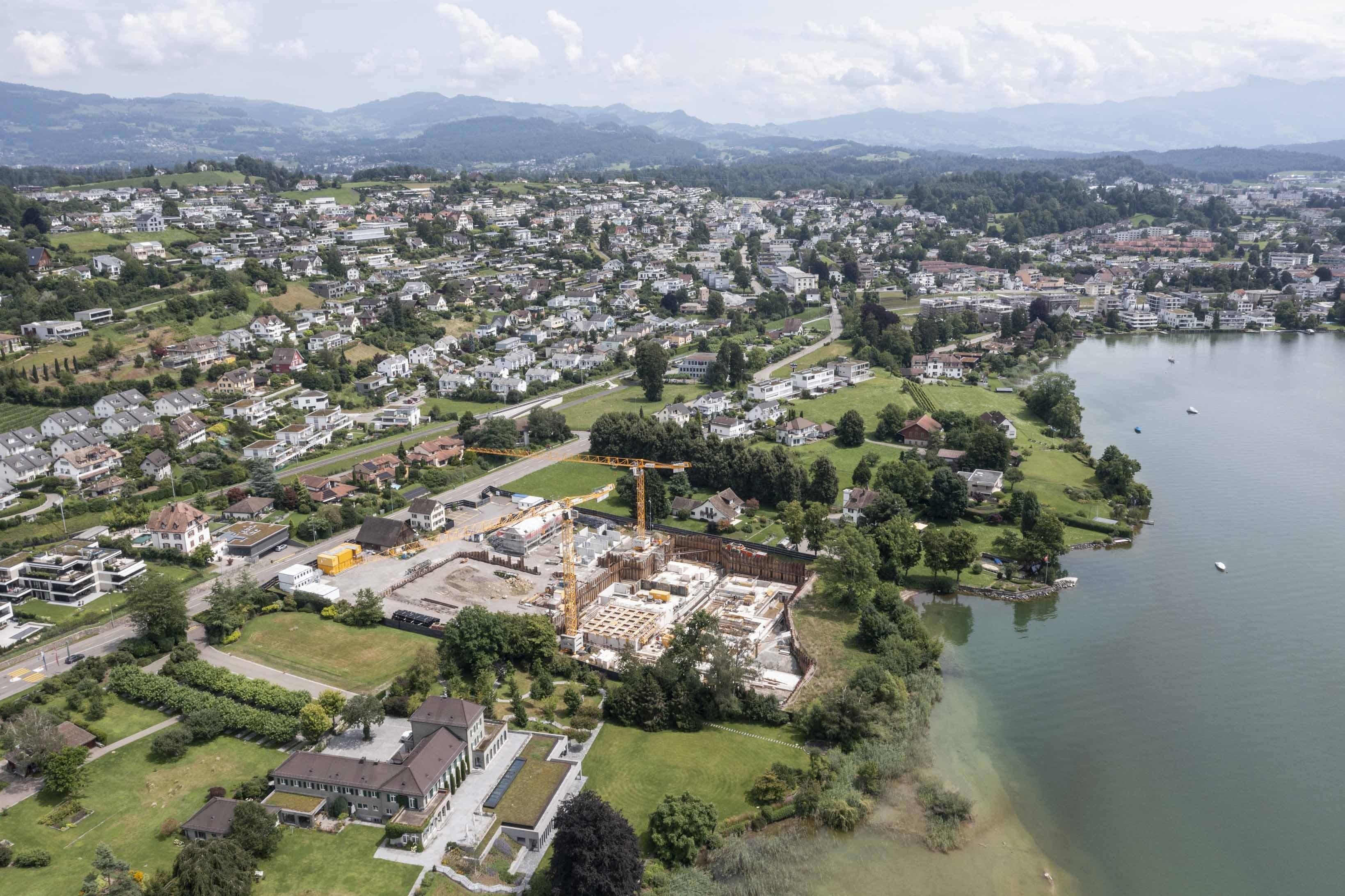 Baustelle von Roger Federer in Rapperswil-Jona