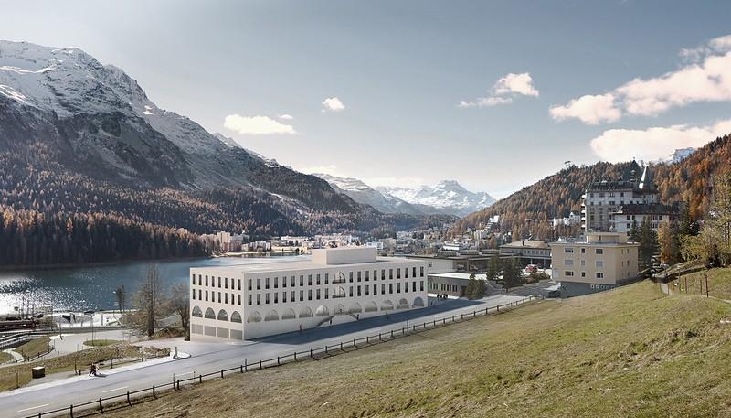 Visualisierung Klinik Serletta in St. Moritz