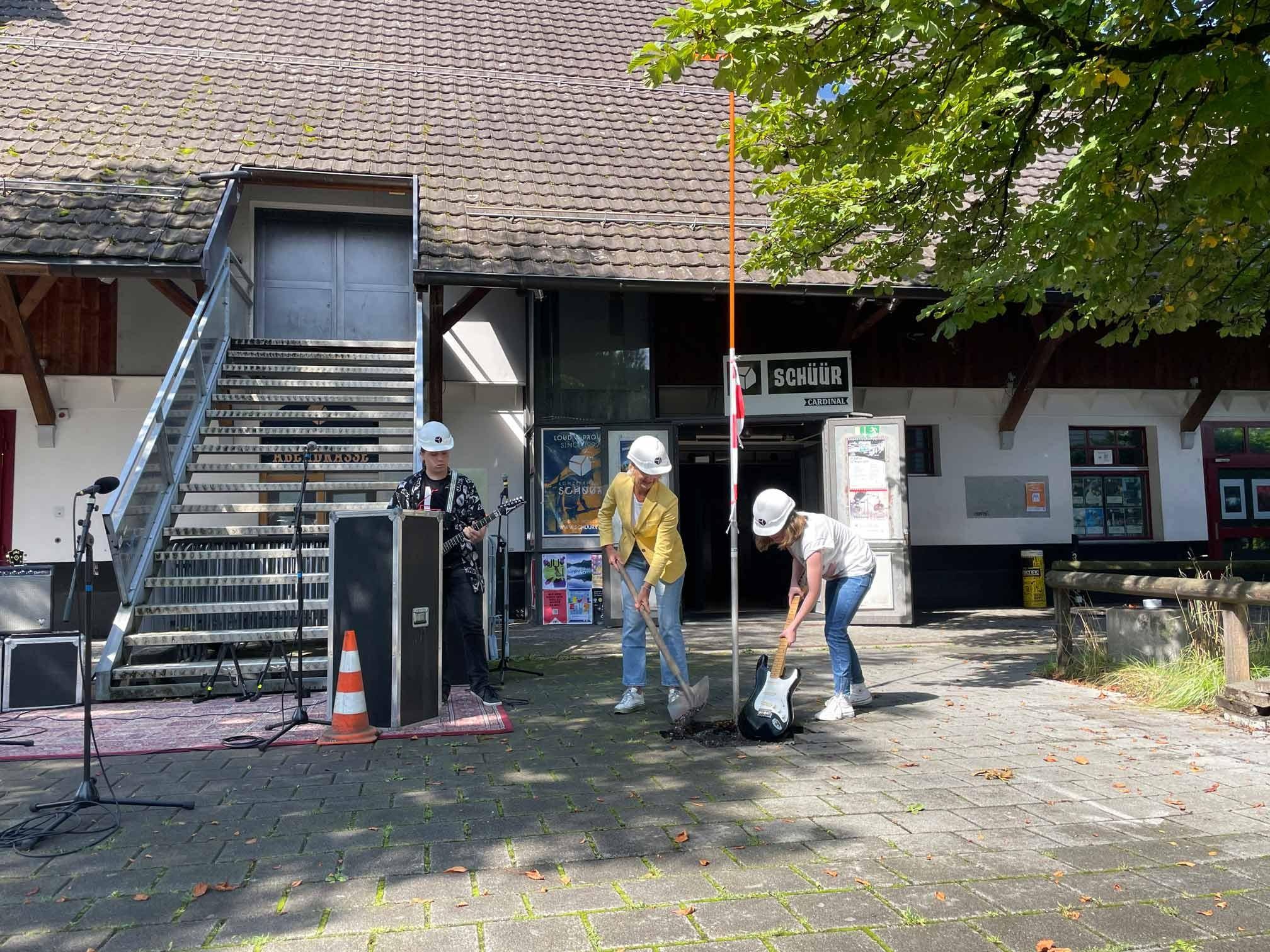Spatenstich Umbau Konzerthaus Schüür in Stadt Luzern