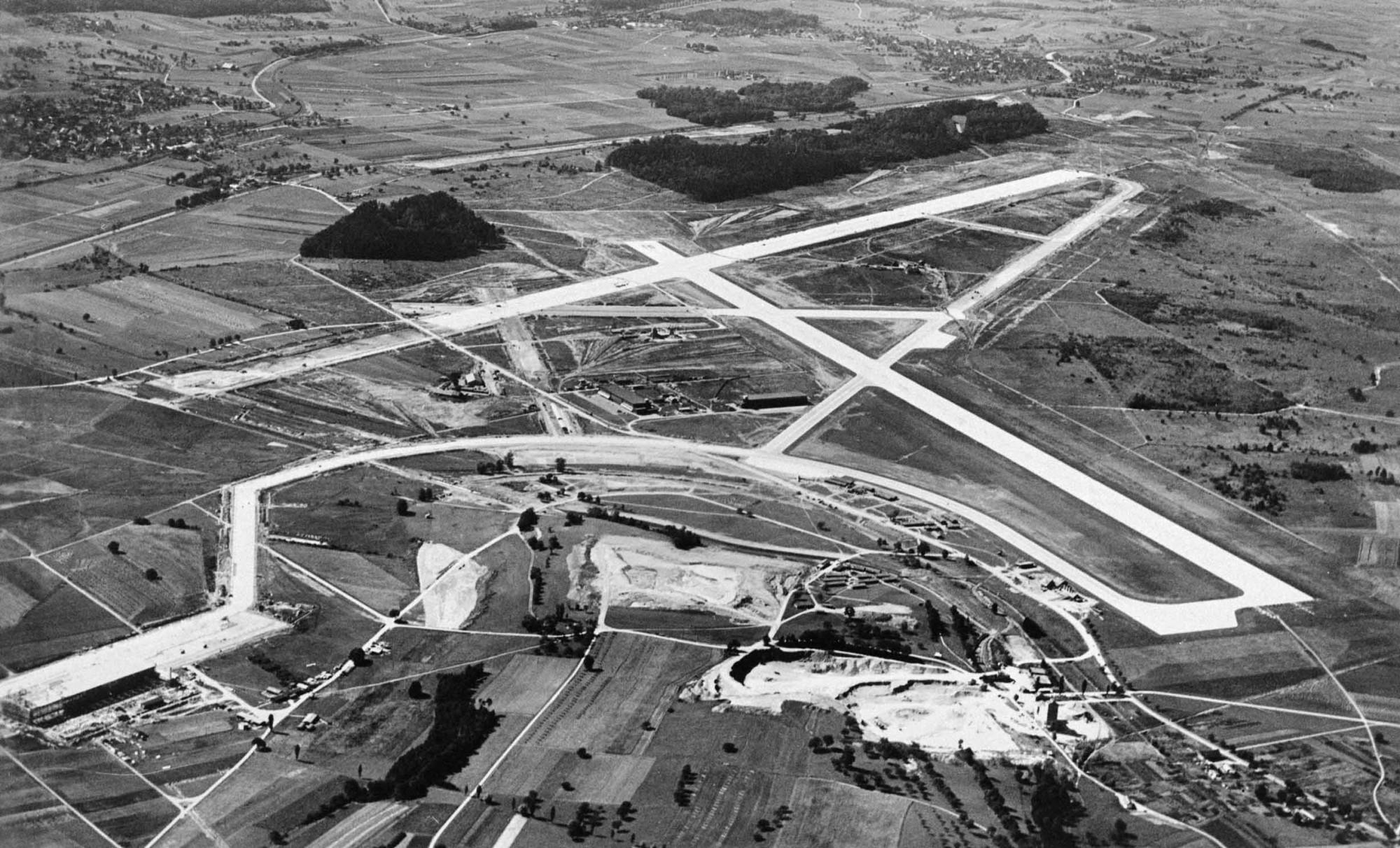 Flughafen Zürich um 1948