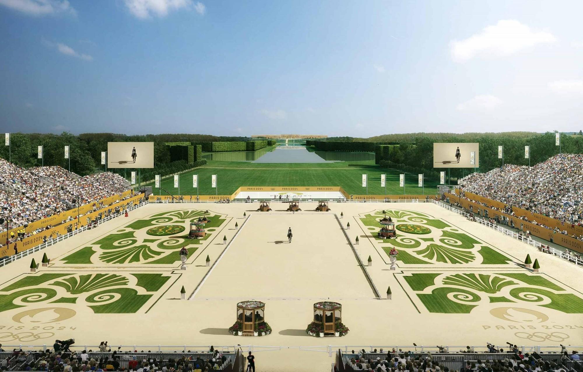 Visualisierung Pferderennen bei Chateau de Versailles