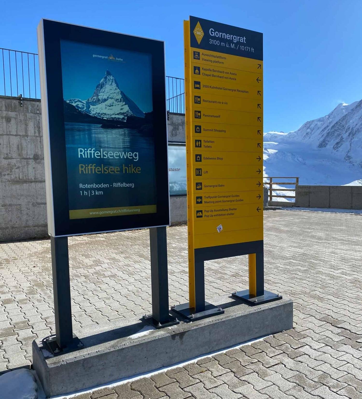 Infotafel von Inputech in Zermatt