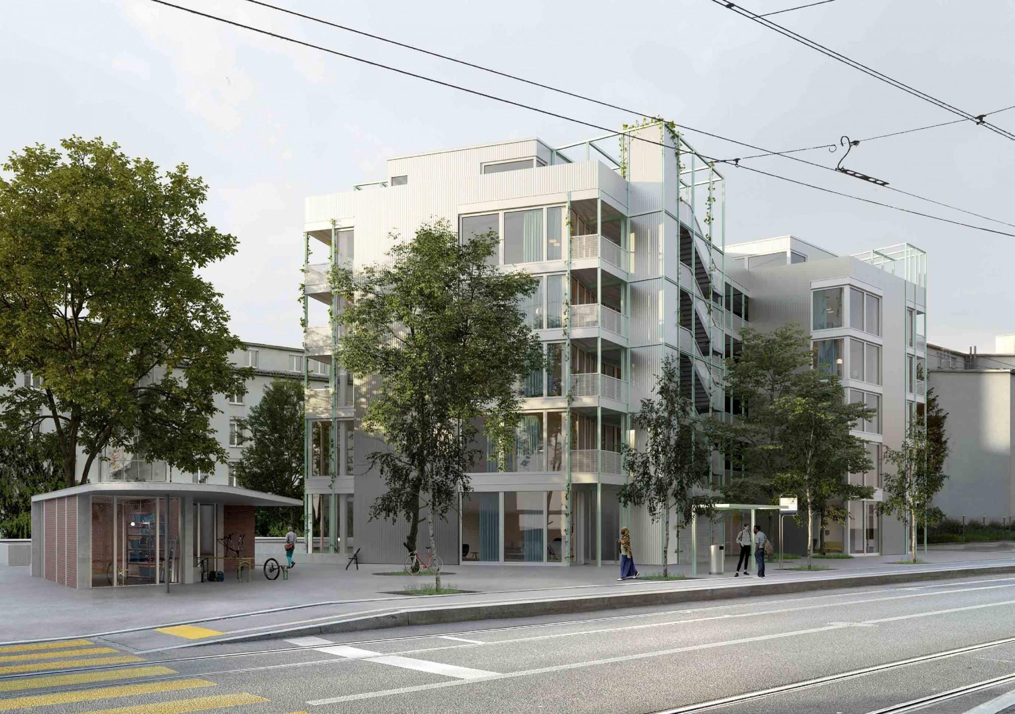 Visualisierung Neubau an Burgfelderstrasse in Basel