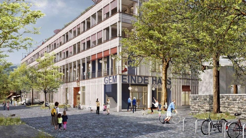 Visualisierung Überbauung Landsgemeindeplatz in Oberdorf NW