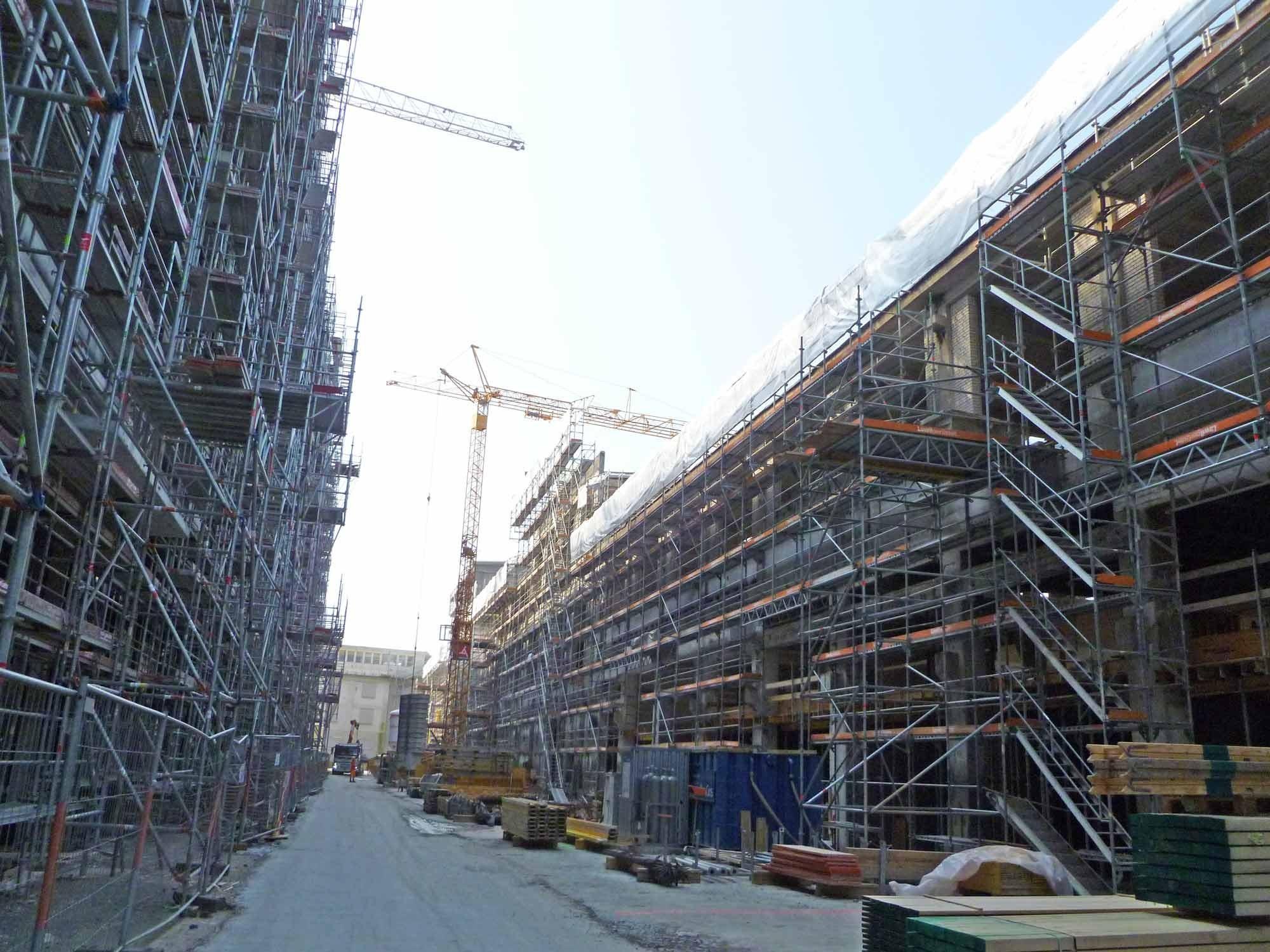 Baustelle auf Papieri-Areal in Cham