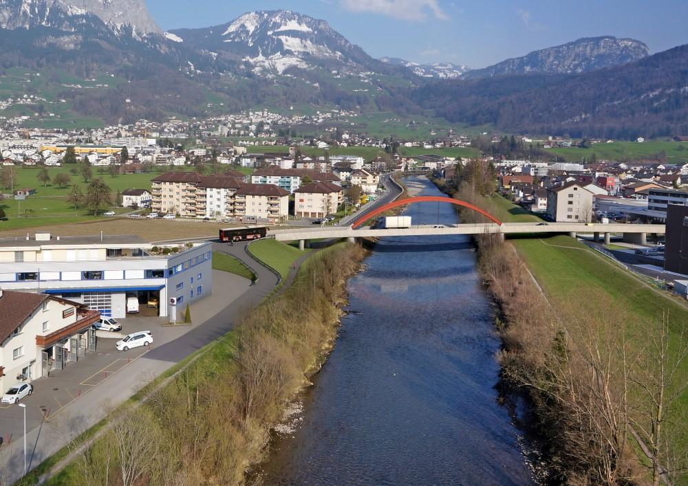 Muotabrücke West, Ibach; Neubau; Visualisierung