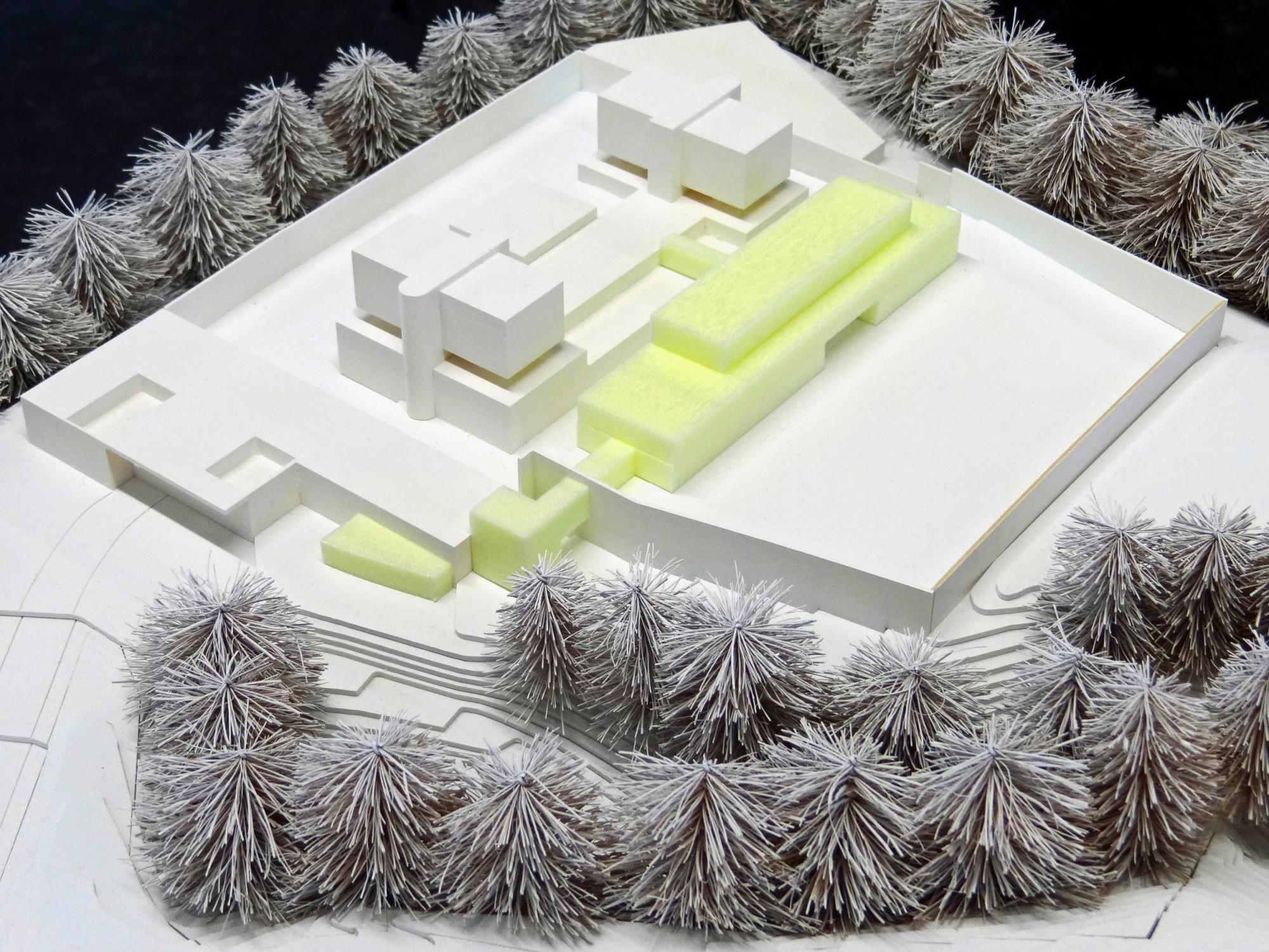Modell Umbau Justizvollzugsanstalt Bostadel