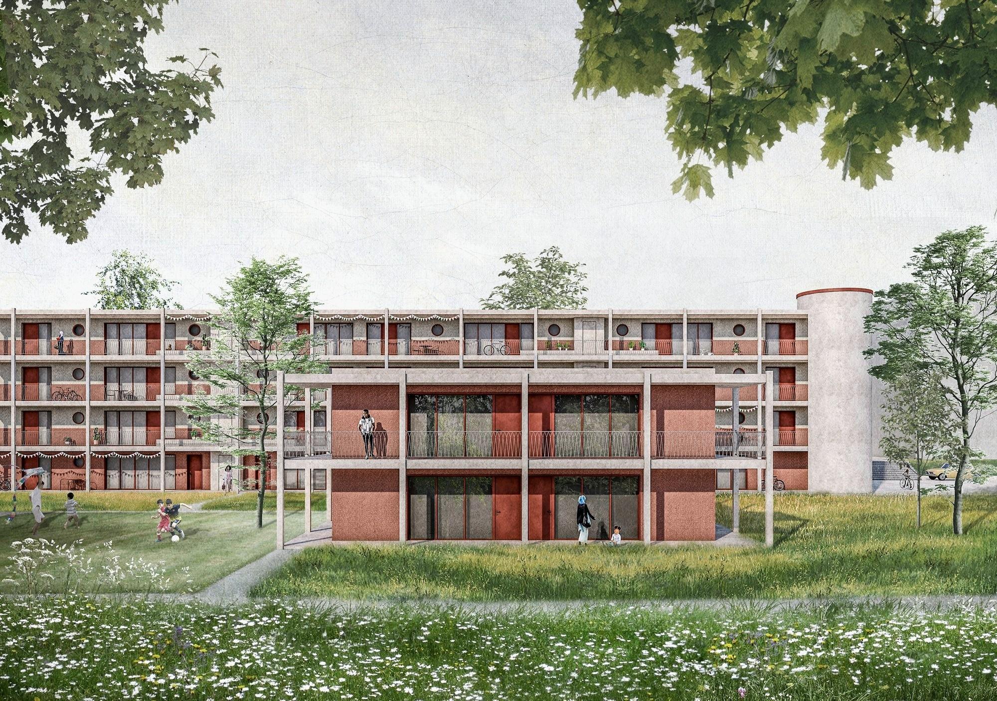 Visualisierung Ersatzneubau für Asylsuchende in Steinhausen