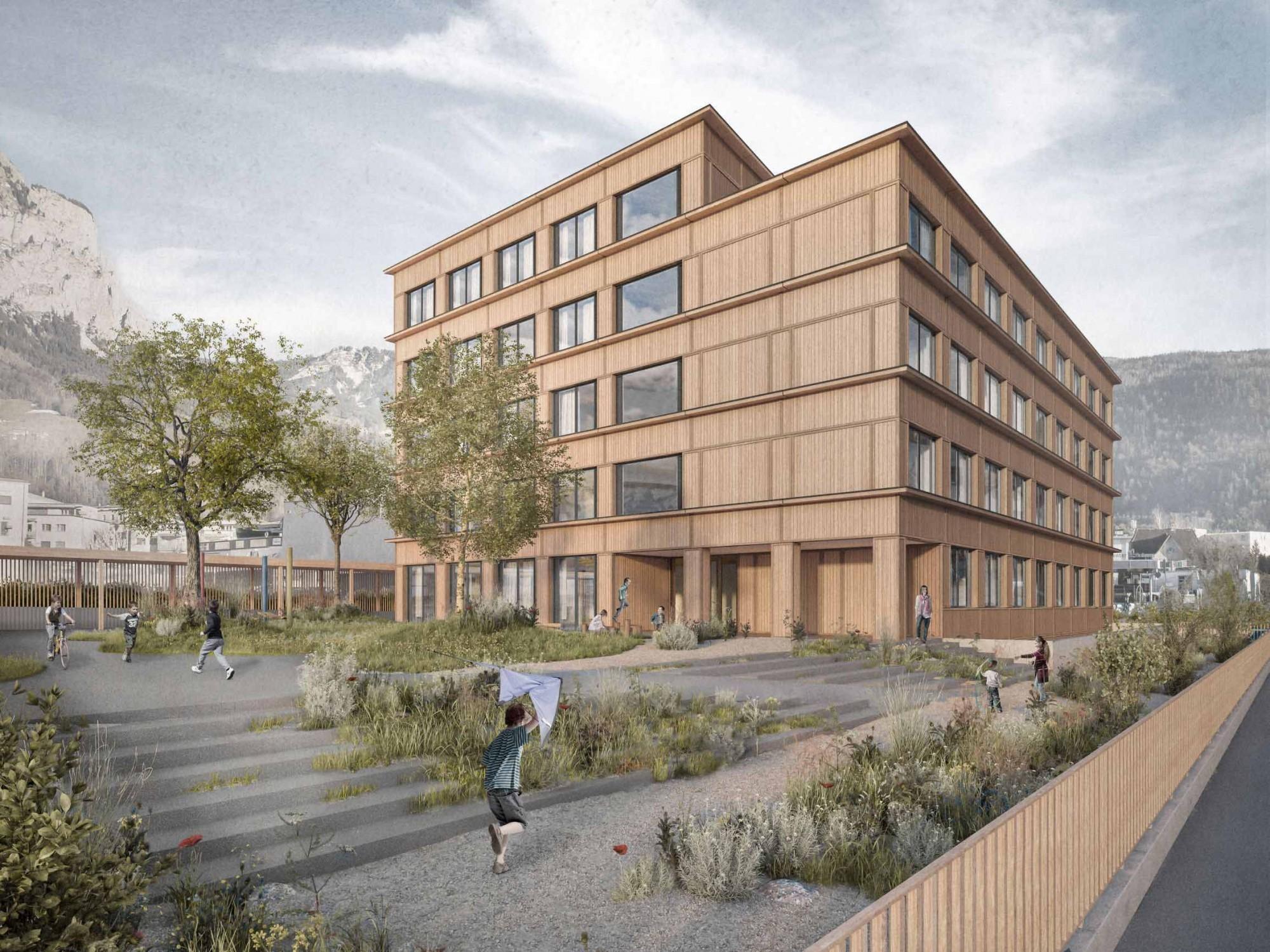 Visualisierung Neubau Heilpädagogisches Zentrum Innerschwyz in Ibach