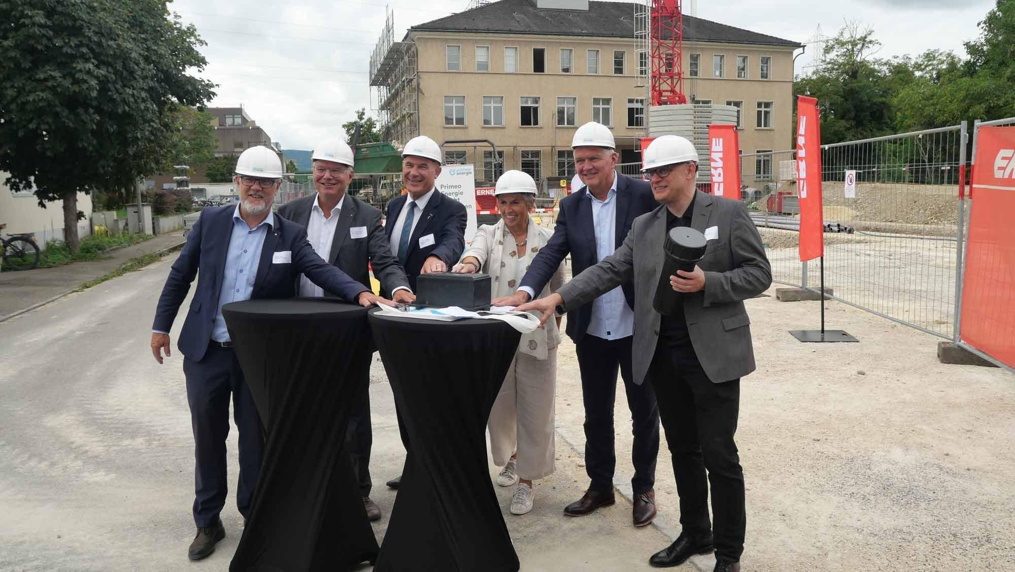 Grundsteinlegung Primeo Energie Kosmos Münchenstein
