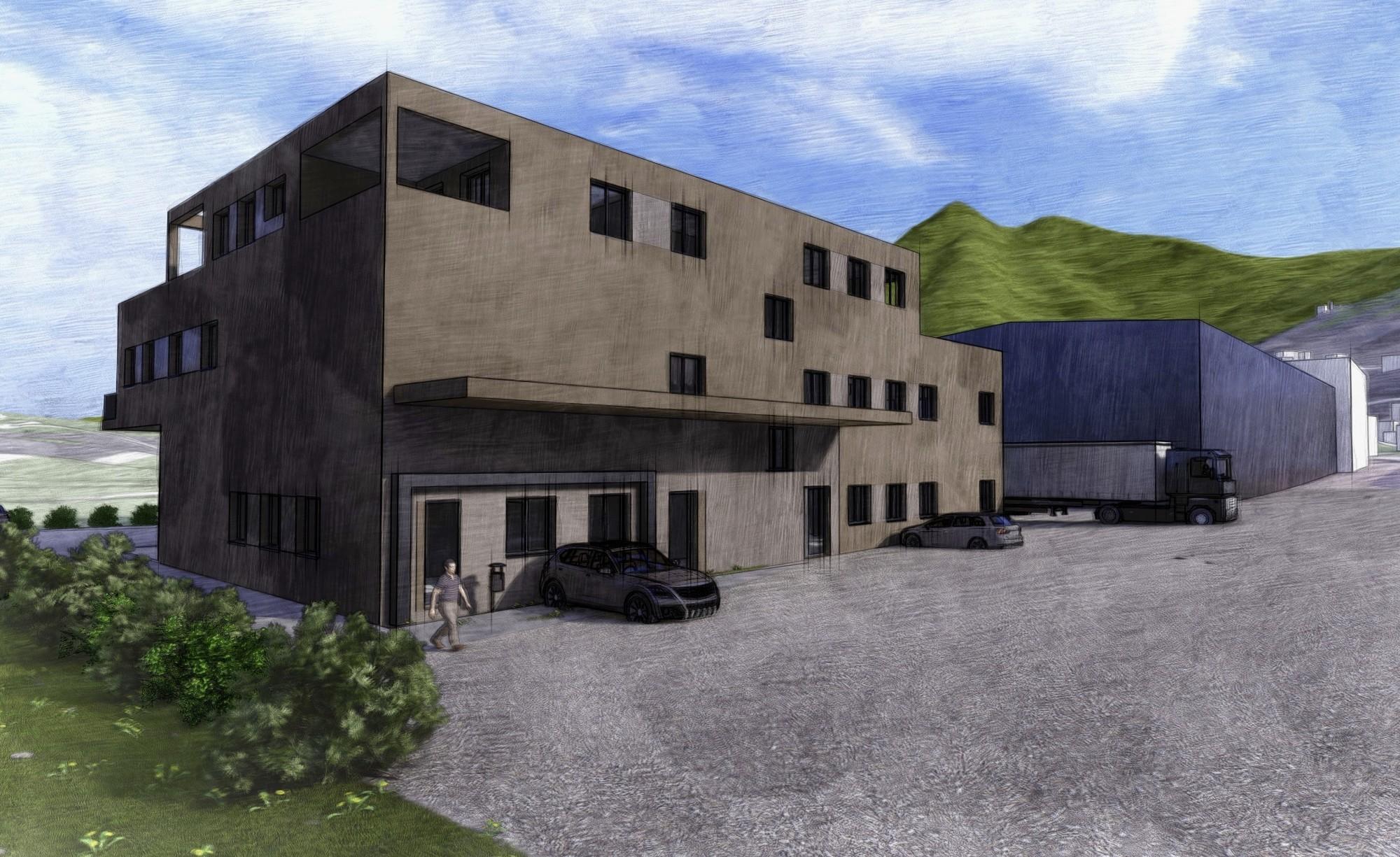 Visualisierung Neubau Schlachthaus in Kerns