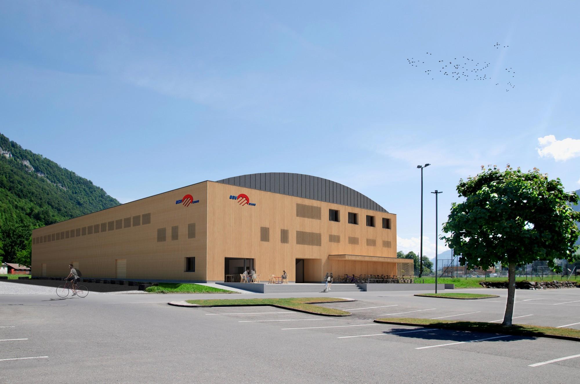 Visualisierung Handball-Sporthalle in Stans