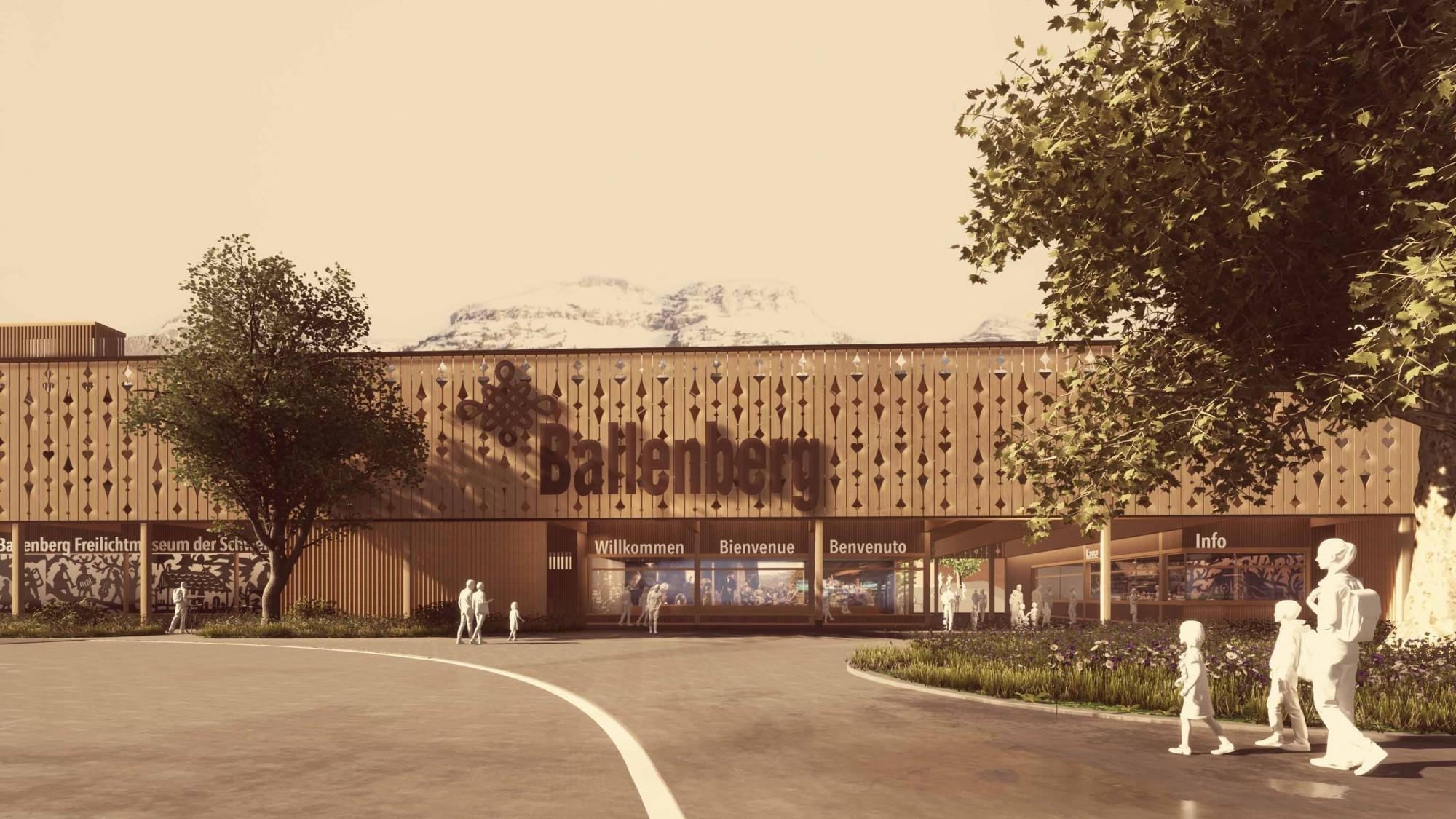 Visualisierung Neubau Eingang West Freilichtmuseum Ballenberg