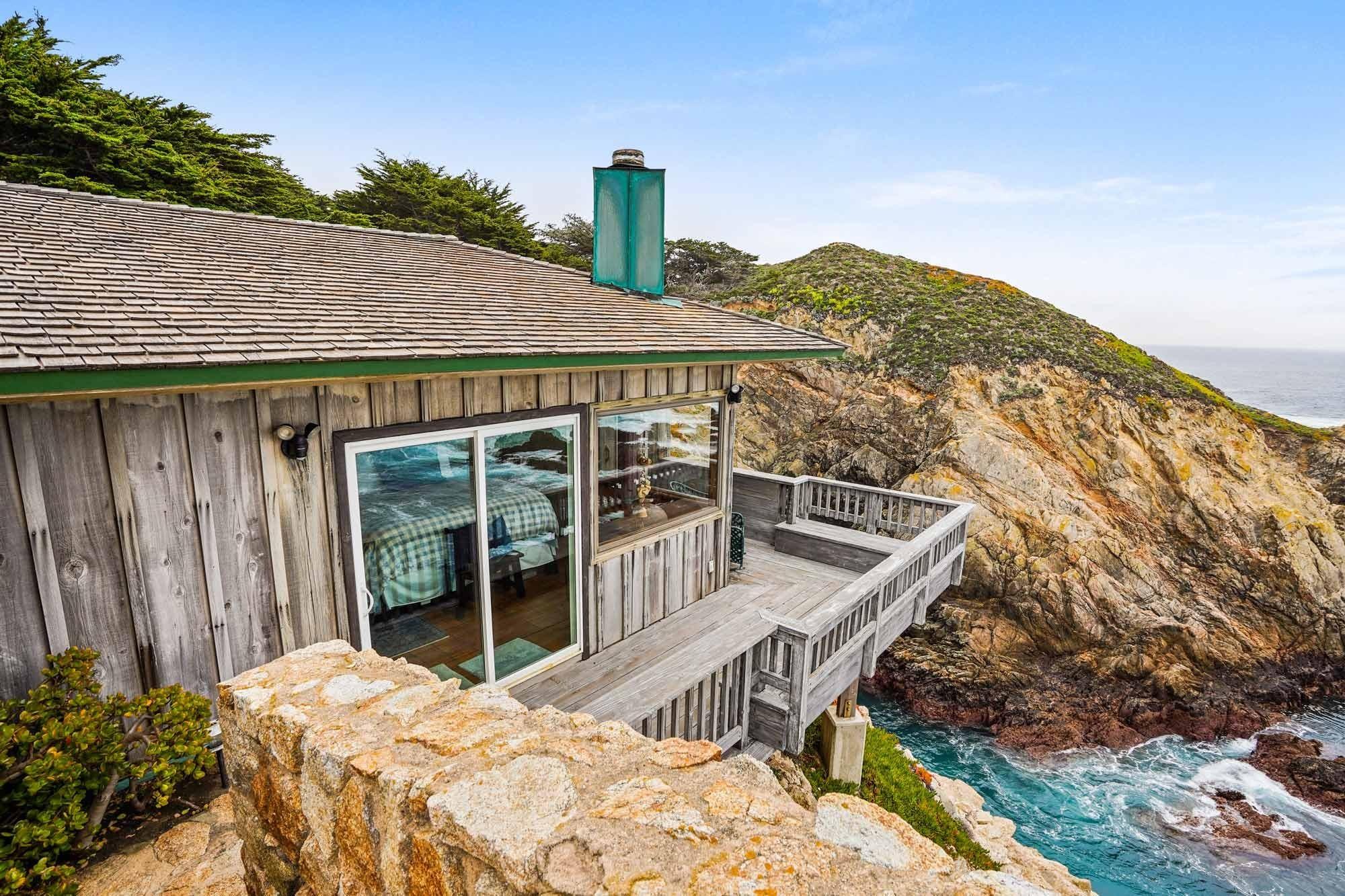 Balkon Klippenhaus in der Stadt Carmel in Kalifornien