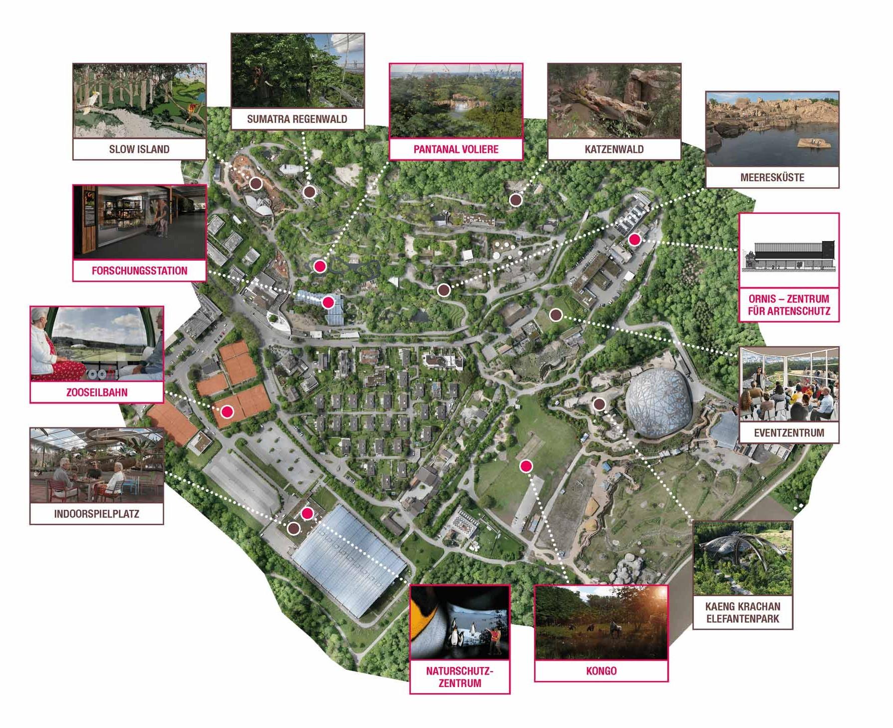 Übersicht Bauprojekte beim Zoo Zürich