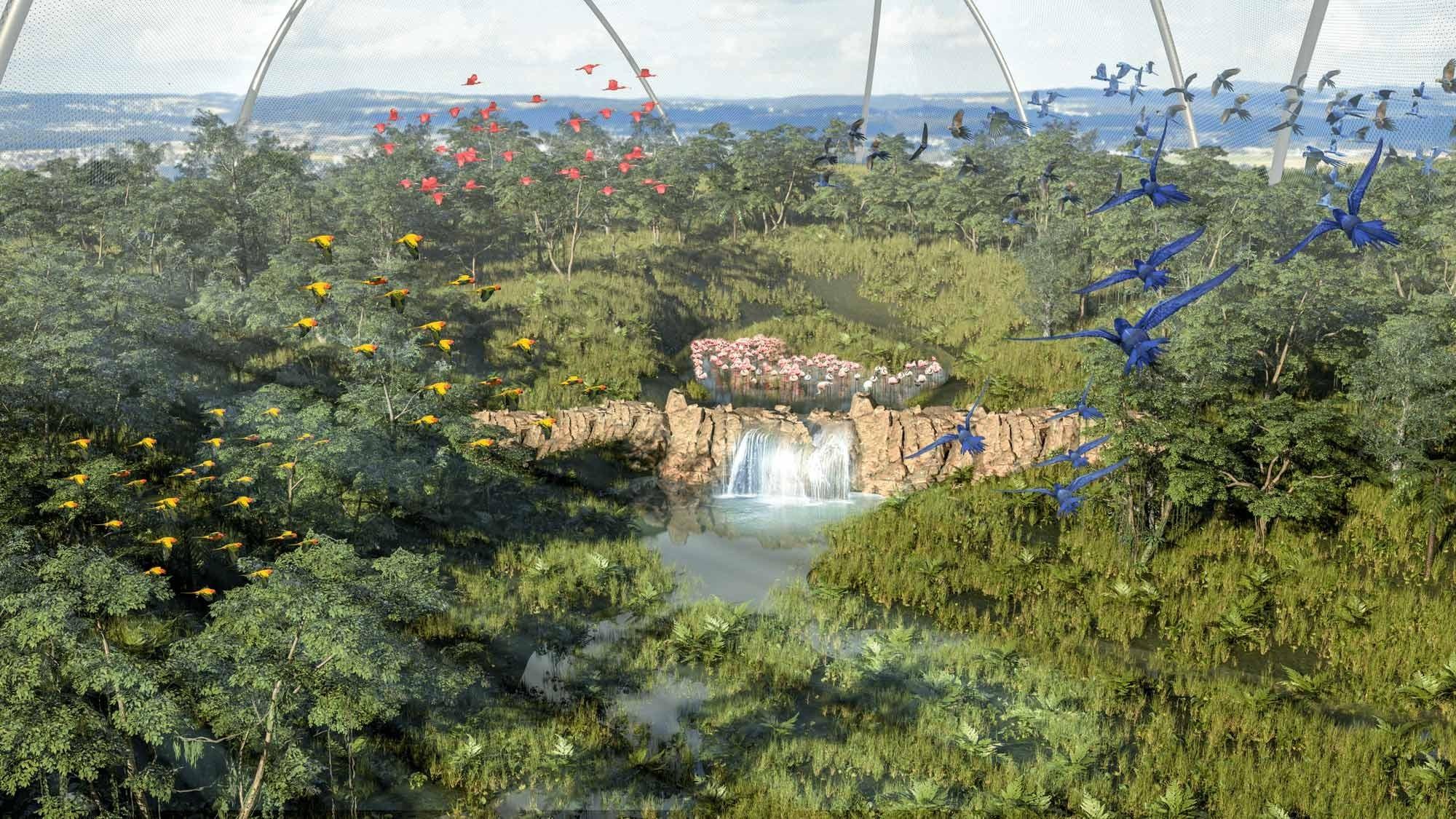 Visualisierung Projekt Pantanal Voliere Zoo Zürich