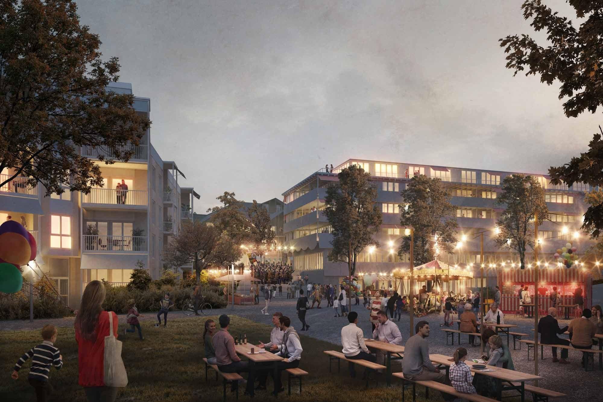 Visualisierung Generationenprojekt Buchrain Dorf Chilbiplatz