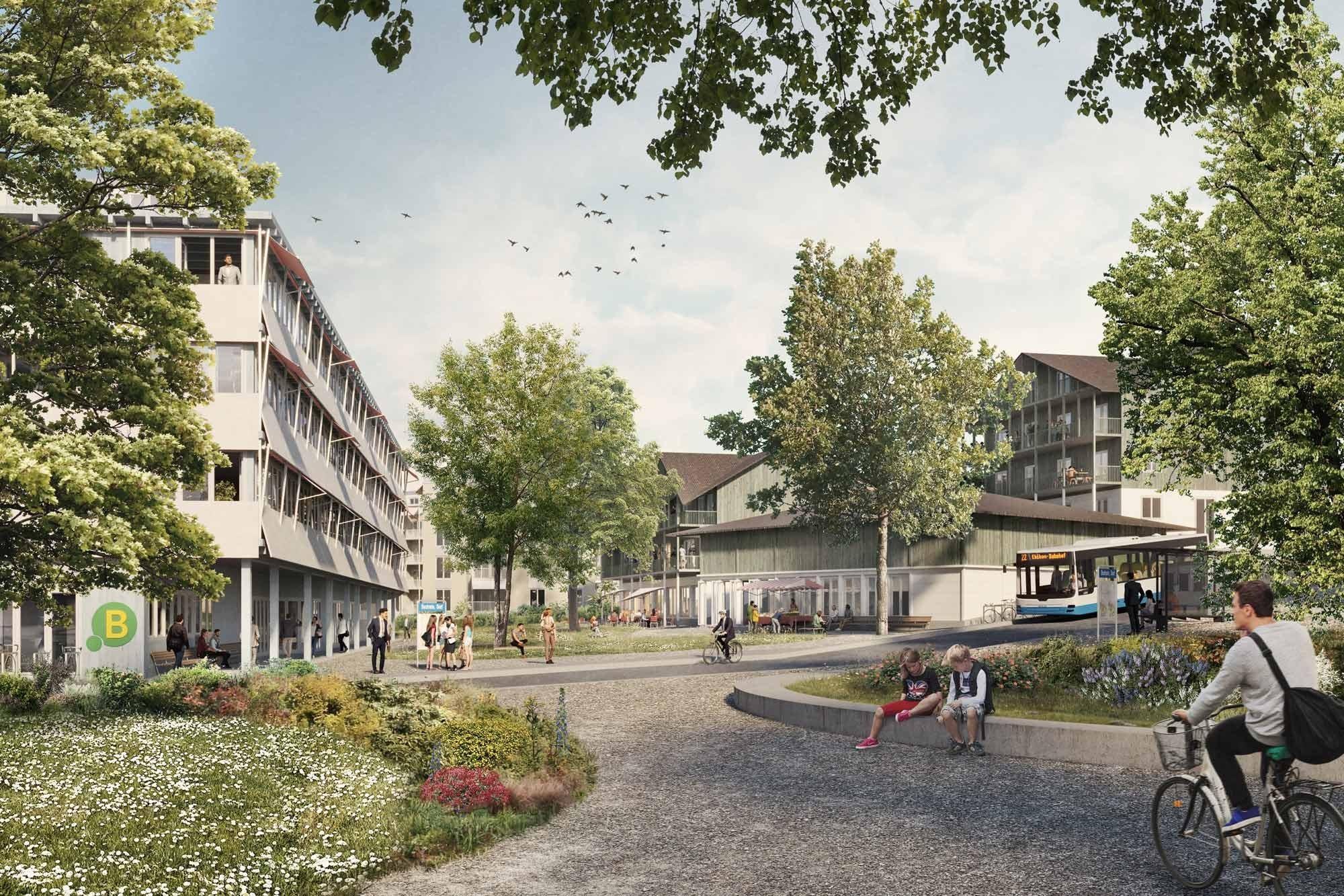 Visualisierung Generationenprojekt Buchrain Dorf Dorfpark