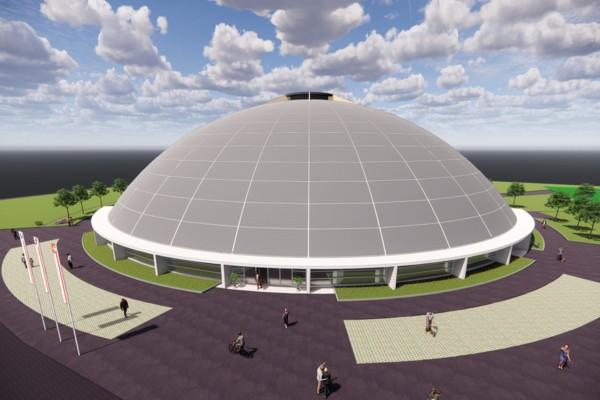 Visualisierung neue Kultur- und Sporthalle Dom in Aesch