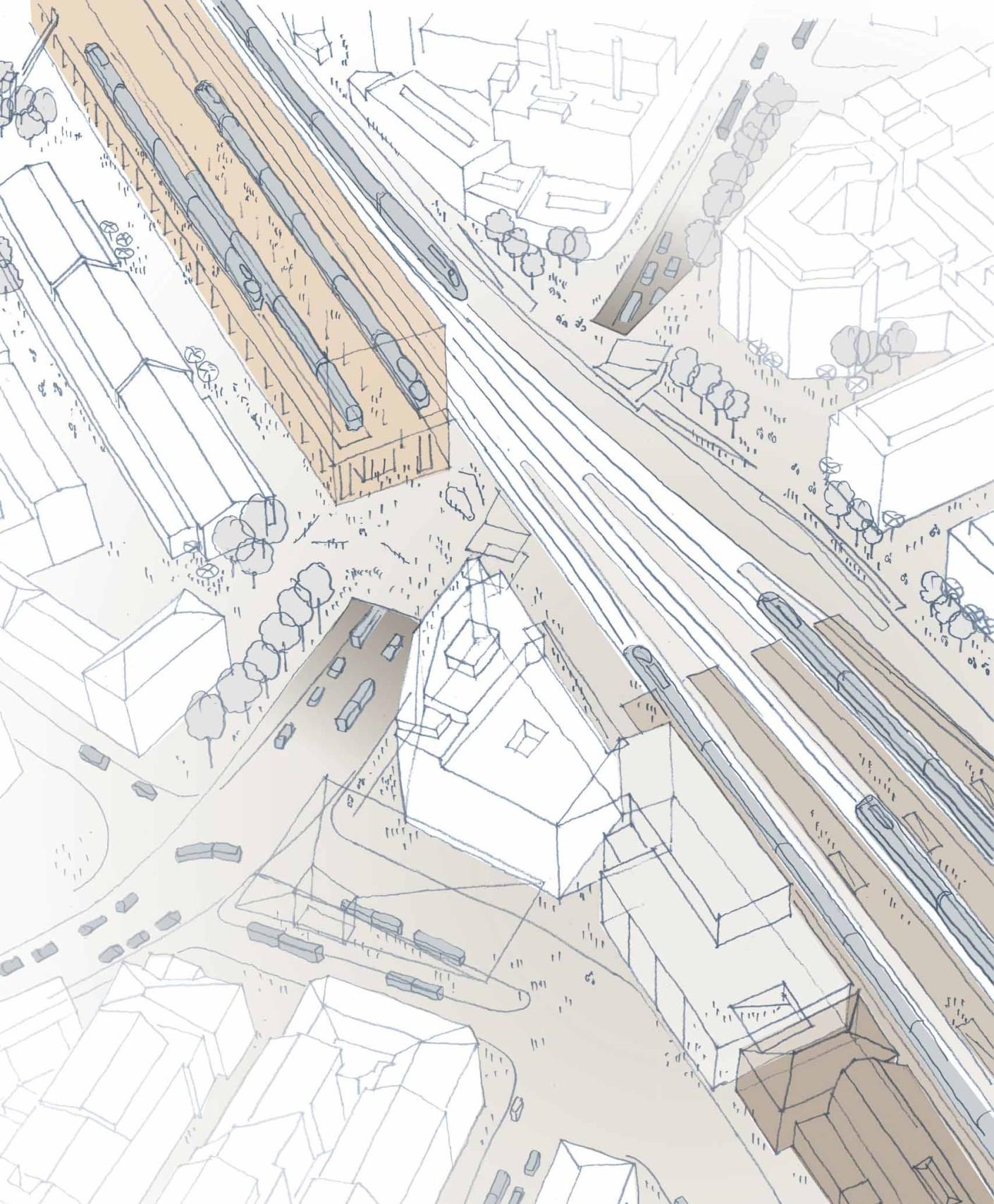 Skizze Ausbau Bahnhof Winterthur Südosten
