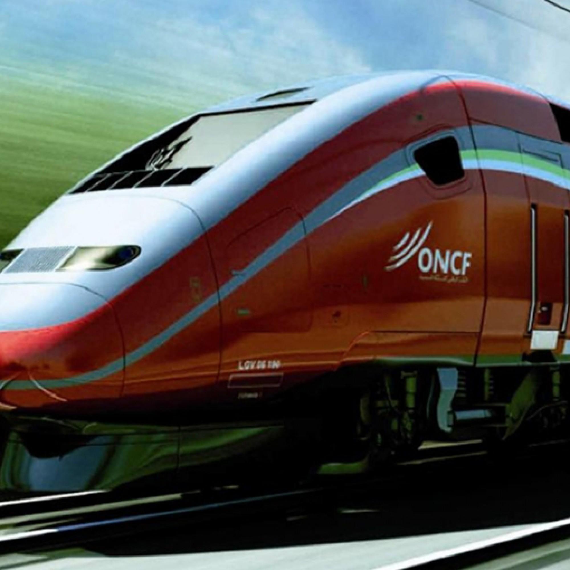 Der zweistöckige, rote TGV Marokkos wird mit 320 Kilometer pro Stunde durch die Wüste rasen. (Bild: wikimedia CC)