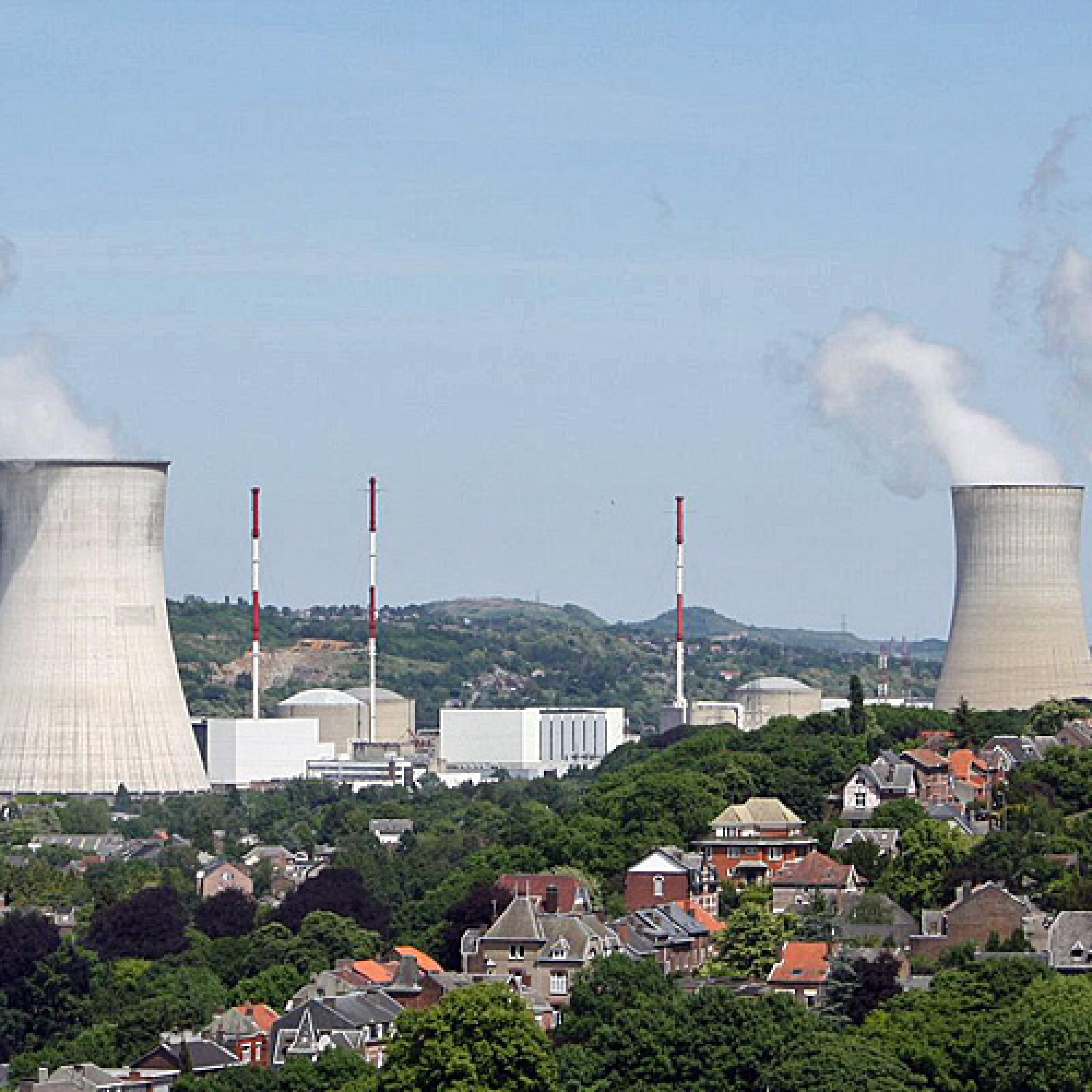 Die Idylle in Tihange trügt: Behördliche Prüfer hatten im Jahr 2012 mittels Ultraschallmessungen einige Tausend Haarrisse am Reaktorbehälter 2 entdeckt. (Bild: zvg)