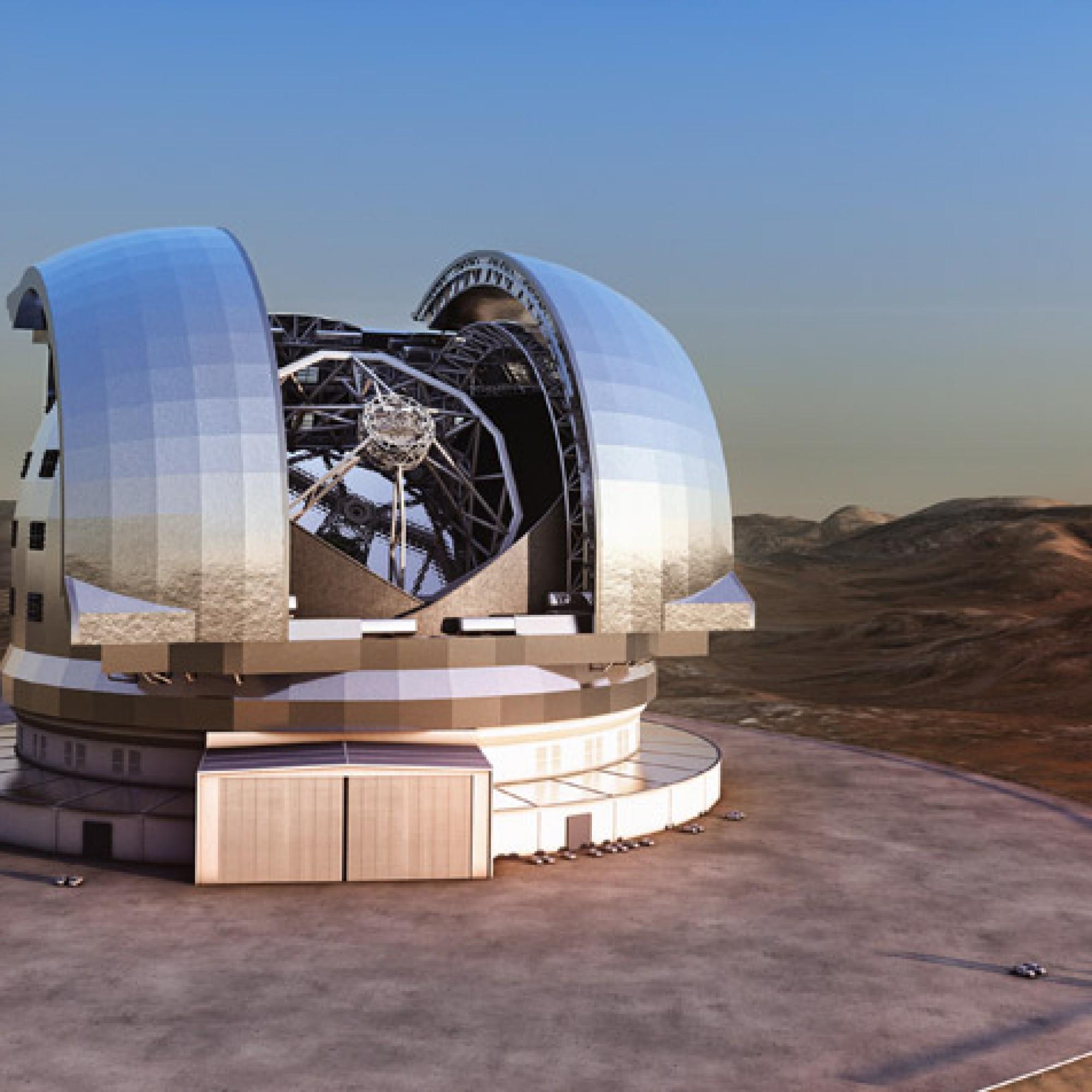 """Ein """"Auge"""" für die Welt: So sieht das European Extremely Large Telescope aus. (PD)"""