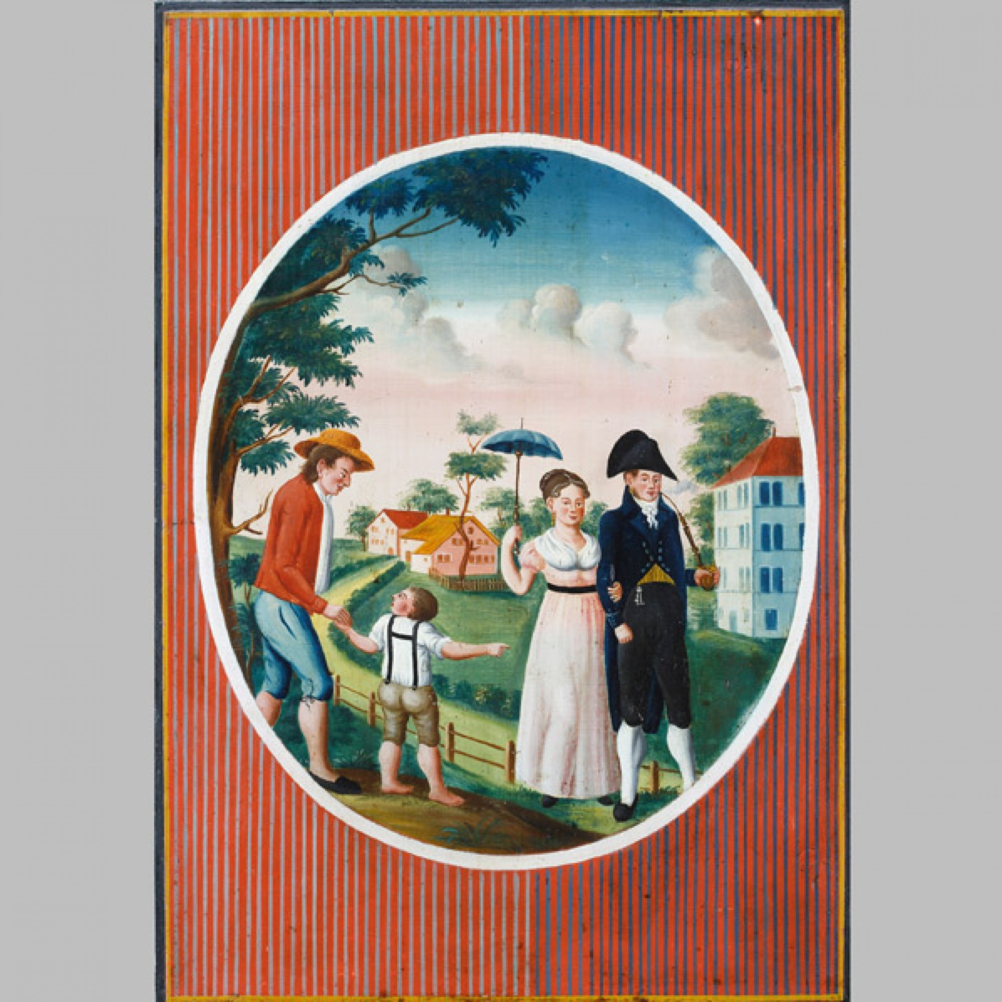 Kasten, um 1820 Gehört dem Hs. Conrad Bodenmann und Elsbetha Bodenmann, Detail. (Stefan Rohner)