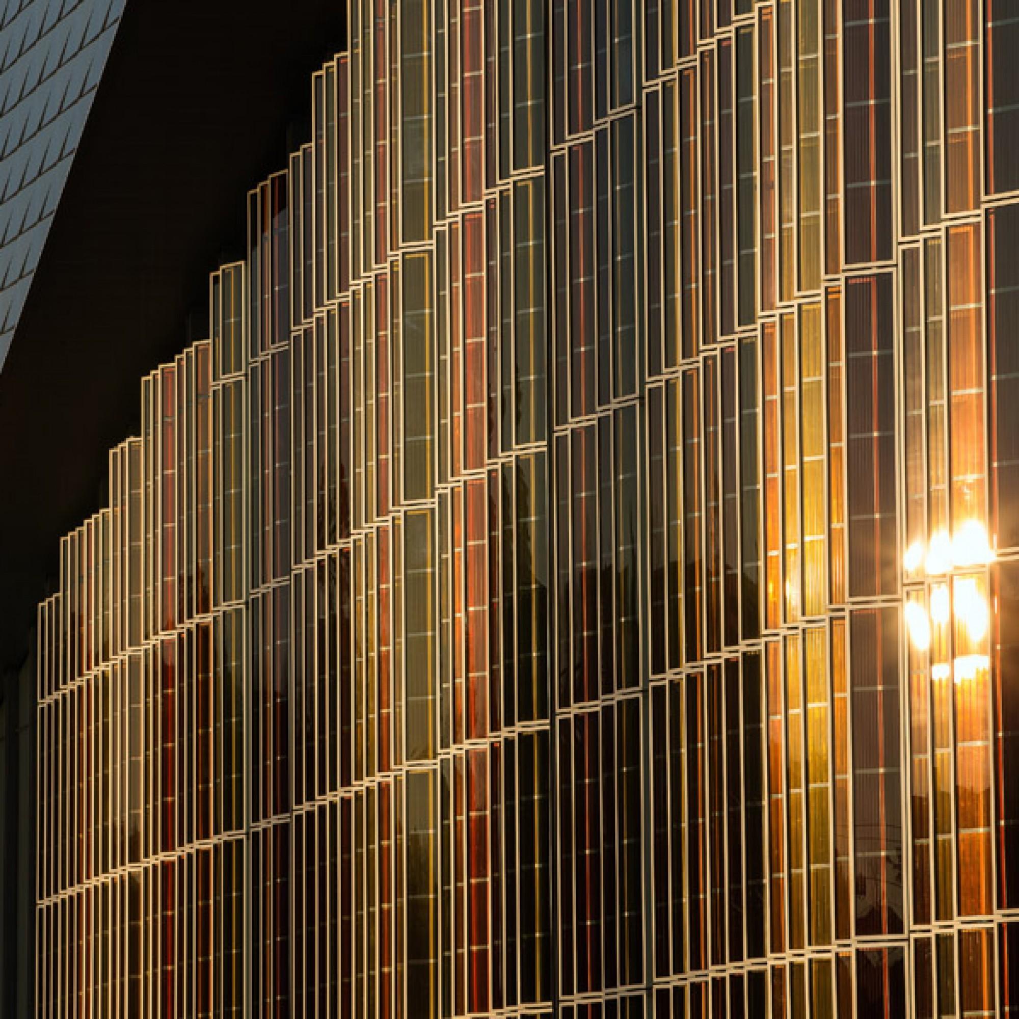 Die Grätzel-Zellen sind auch ein prägendes Fassadenelement.  (EPFL)