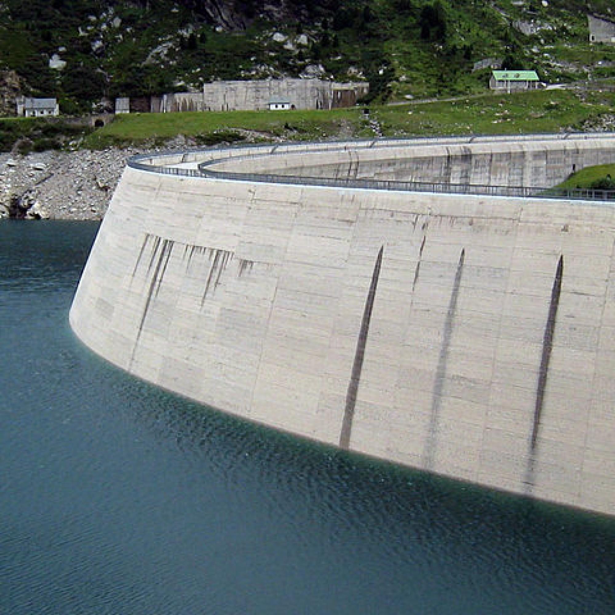 Staumauer am Lago di Lei. (Bild: wikimedia CC)