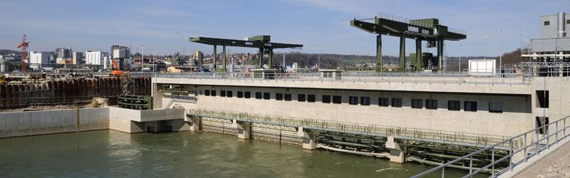 Neues Wasserkraftwerk Rheinfelden: Fischtreppen könnten hier die Fischgängigkeit erhöhen. (Bild: wikimedia, CC)