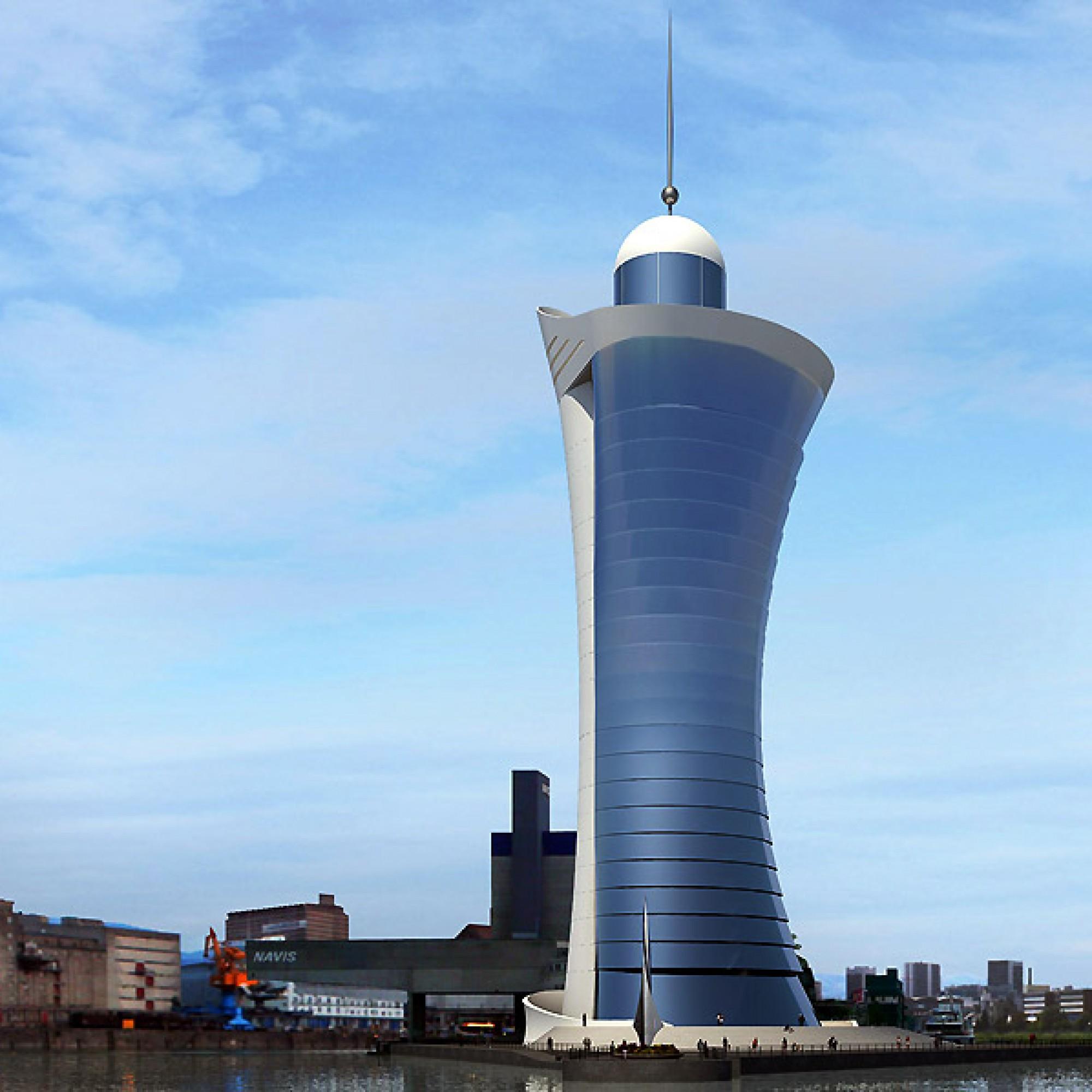 So stellen sich die Architekten den Leuchtturm von Kleinhüningen vor. (PD)